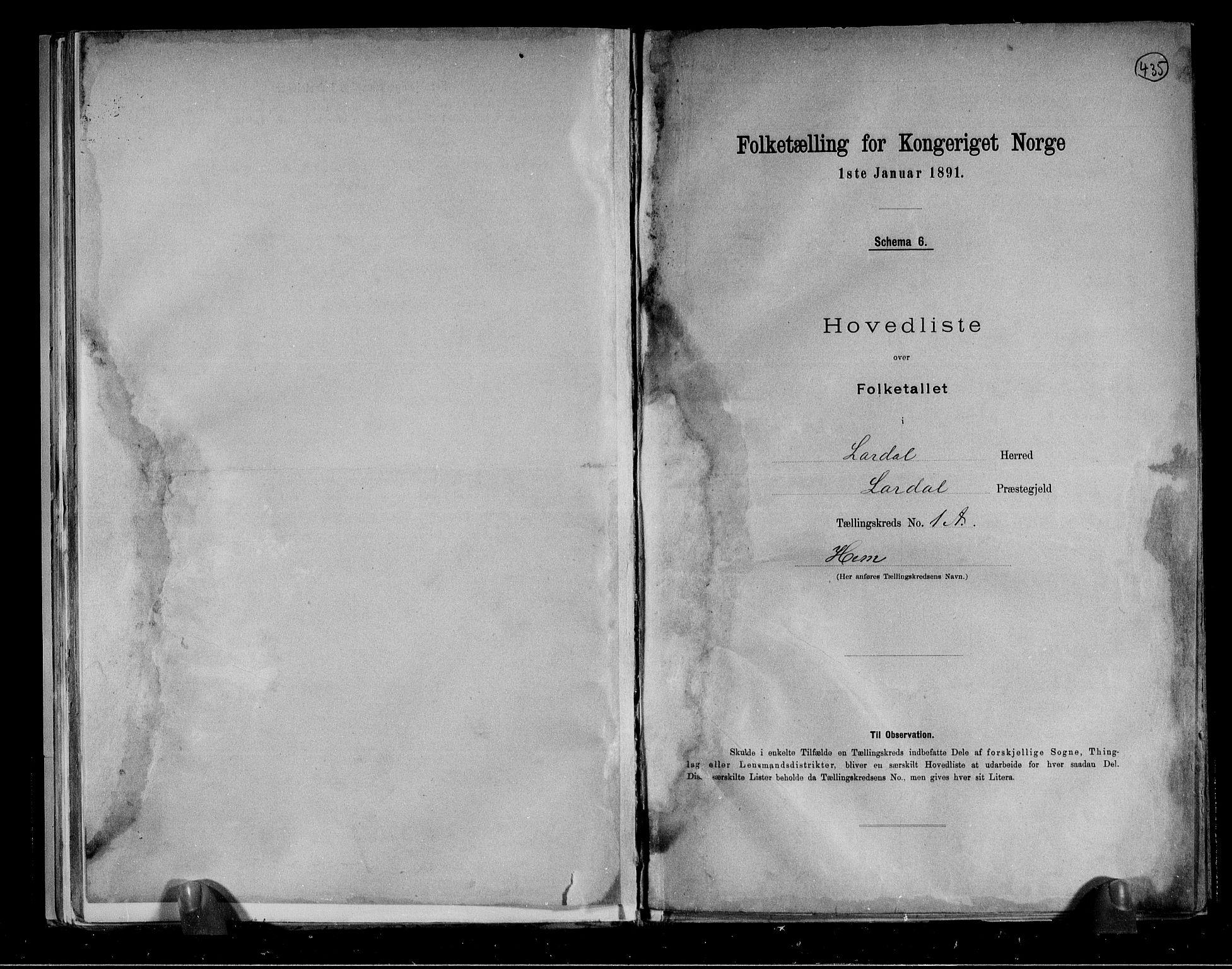 RA, Folketelling 1891 for 0728 Lardal herred, 1891, s. 4
