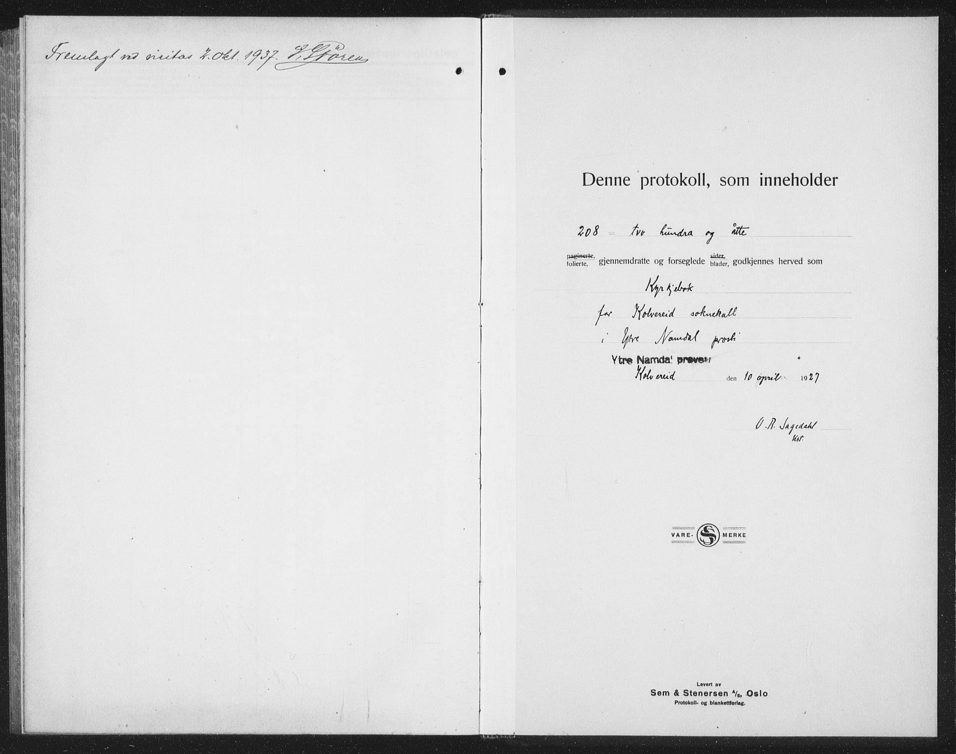 SAT, Ministerialprotokoller, klokkerbøker og fødselsregistre - Nord-Trøndelag, 780/L0654: Klokkerbok nr. 780C06, 1928-1942