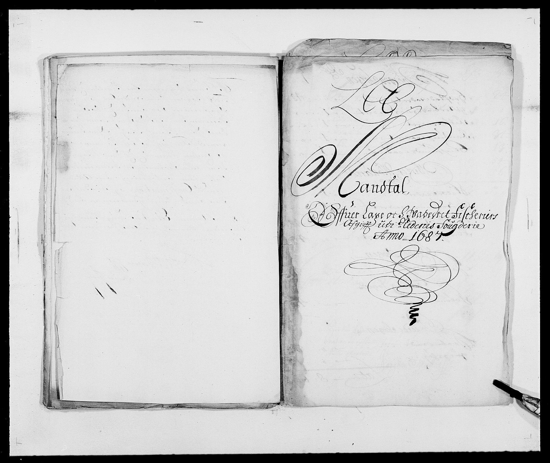 RA, Rentekammeret inntil 1814, Reviderte regnskaper, Fogderegnskap, R39/L2309: Fogderegnskap Nedenes, 1684-1689, s. 13