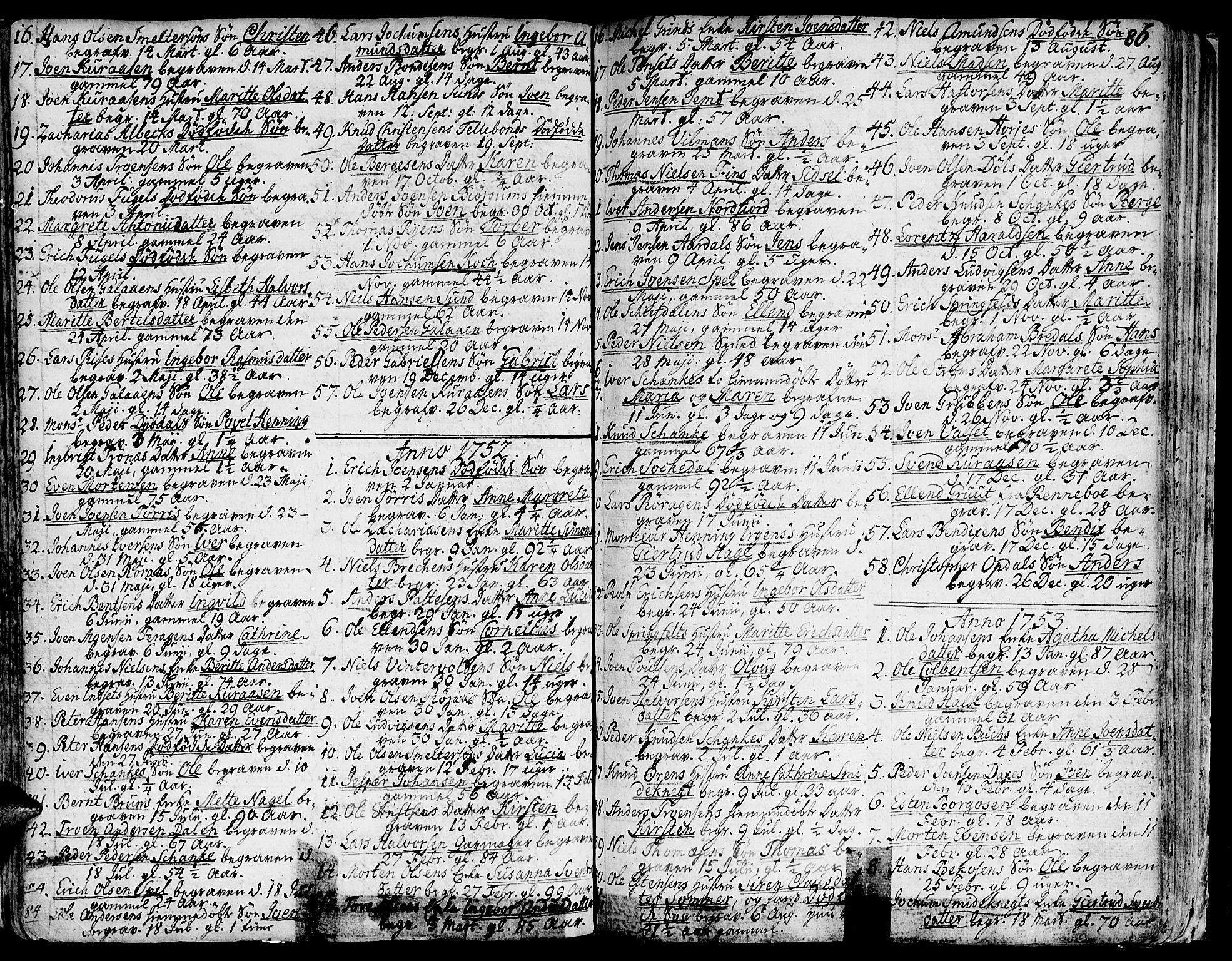 SAT, Ministerialprotokoller, klokkerbøker og fødselsregistre - Sør-Trøndelag, 681/L0925: Ministerialbok nr. 681A03, 1727-1766, s. 86