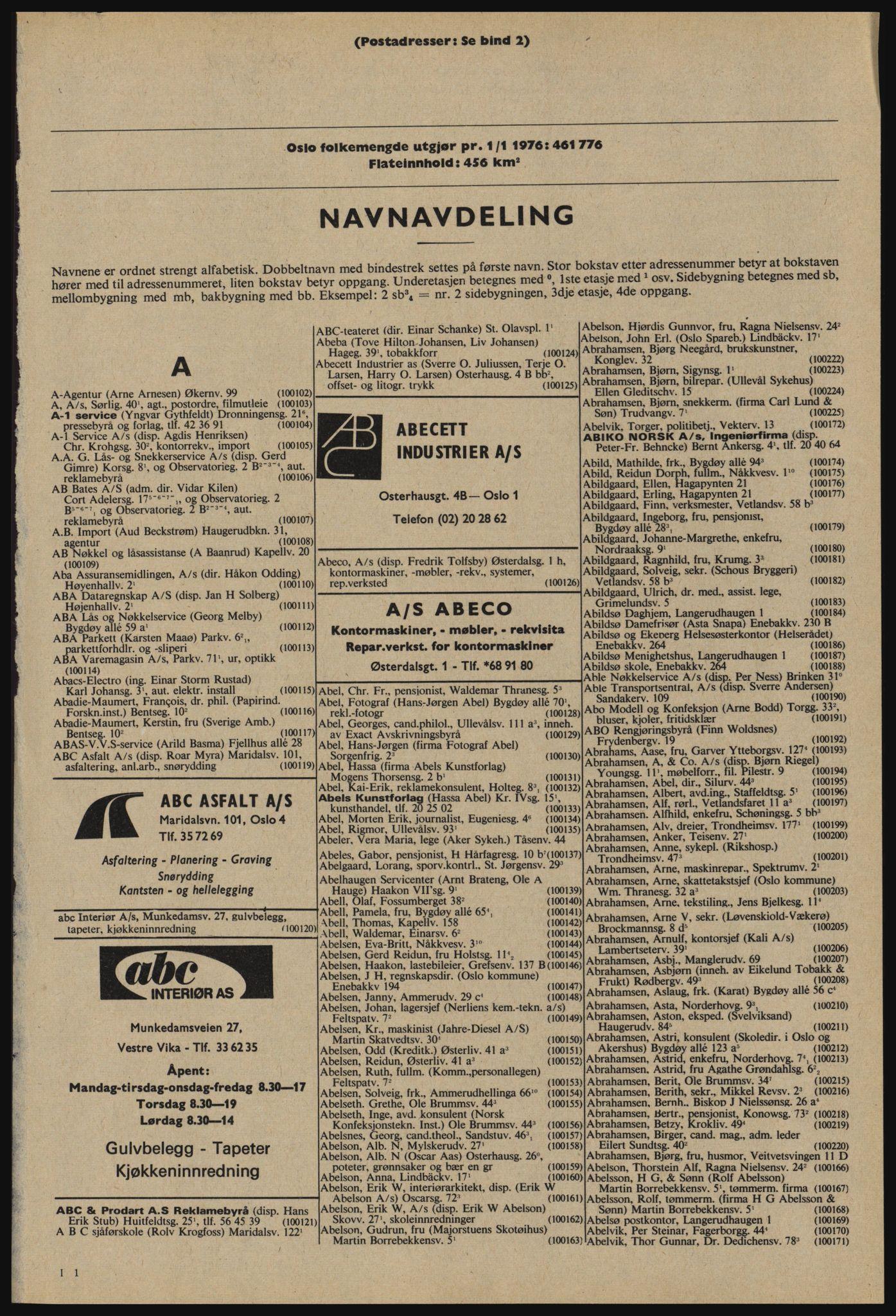 PUBL, Kristiania/Oslo adressebok, 1976-1977, s. 41