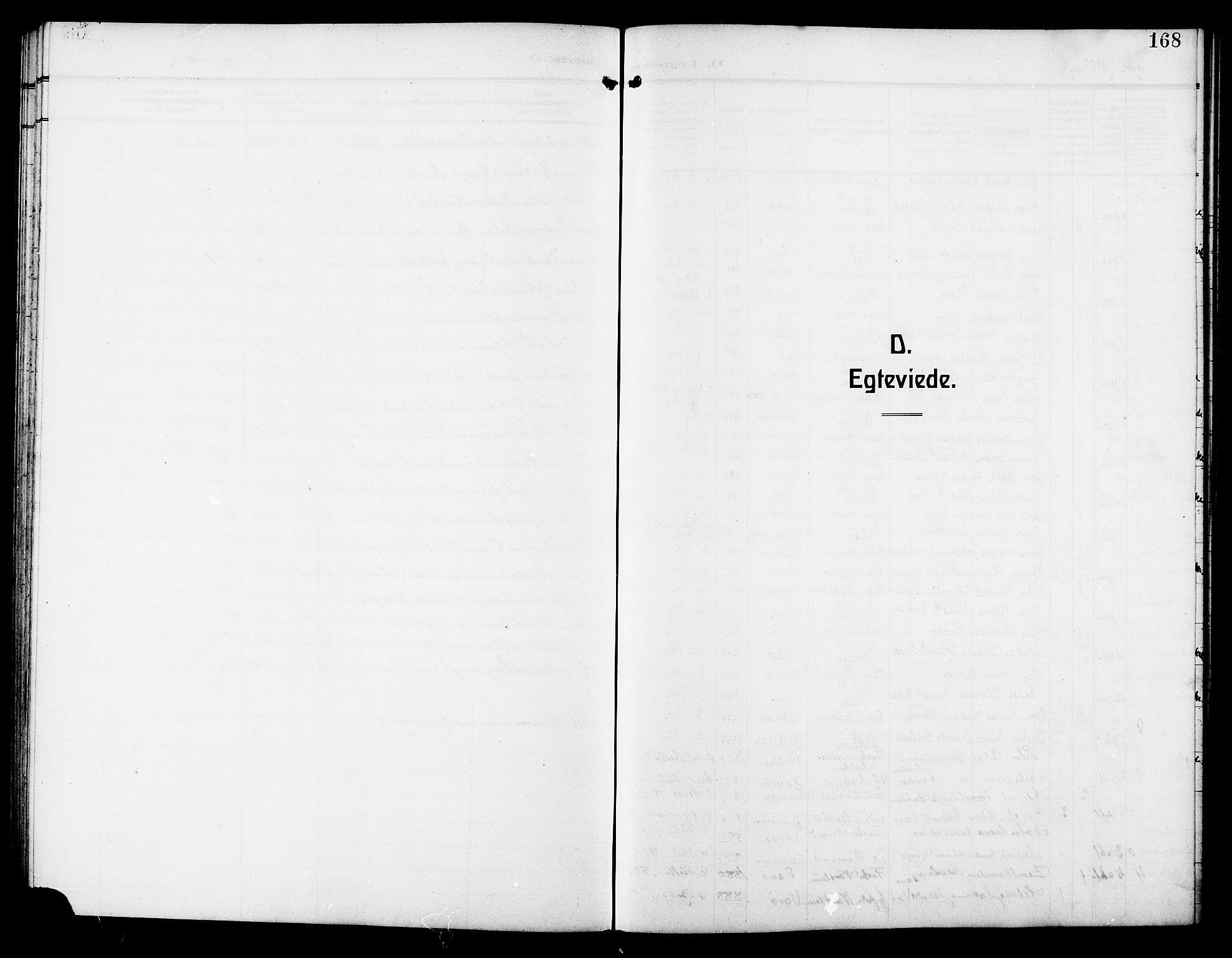 SAT, Ministerialprotokoller, klokkerbøker og fødselsregistre - Sør-Trøndelag, 640/L0588: Klokkerbok nr. 640C05, 1909-1922, s. 168