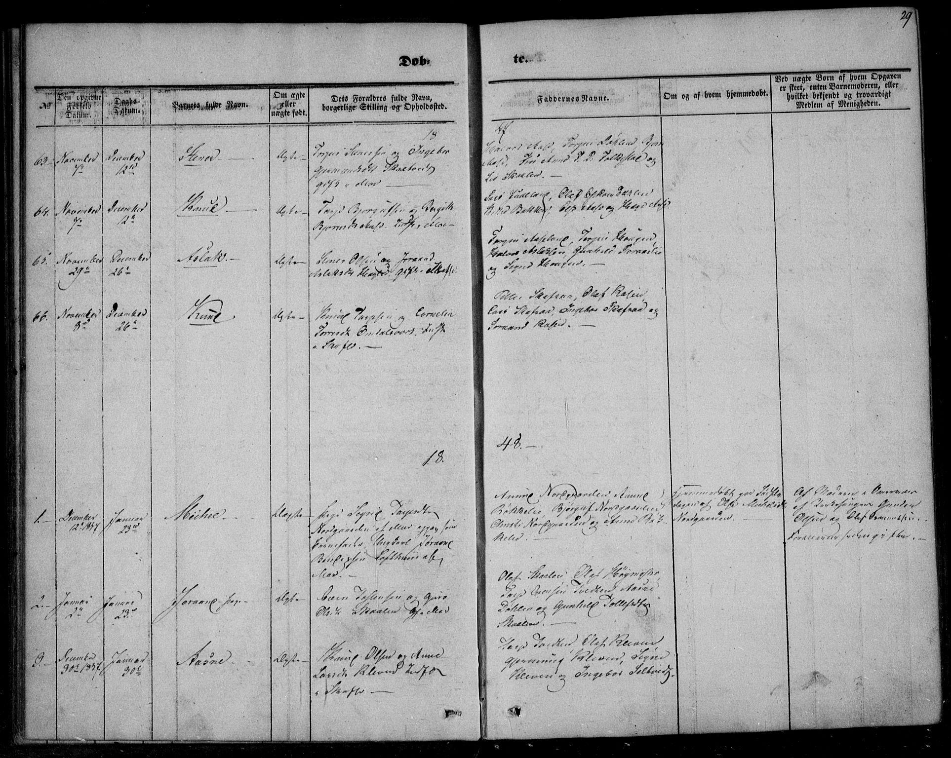 SAKO, Mo kirkebøker, F/Fa/L0005: Ministerialbok nr. I 5, 1844-1864, s. 29