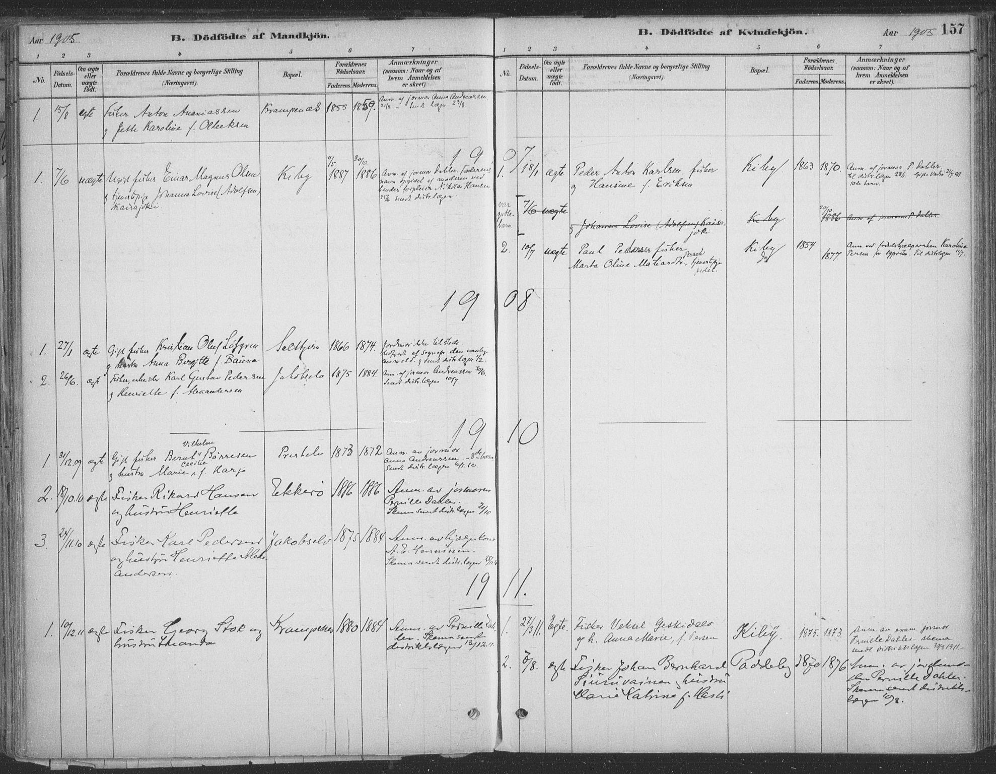 SATØ, Vadsø sokneprestkontor, H/Ha/L0009kirke: Ministerialbok nr. 9, 1881-1917, s. 157