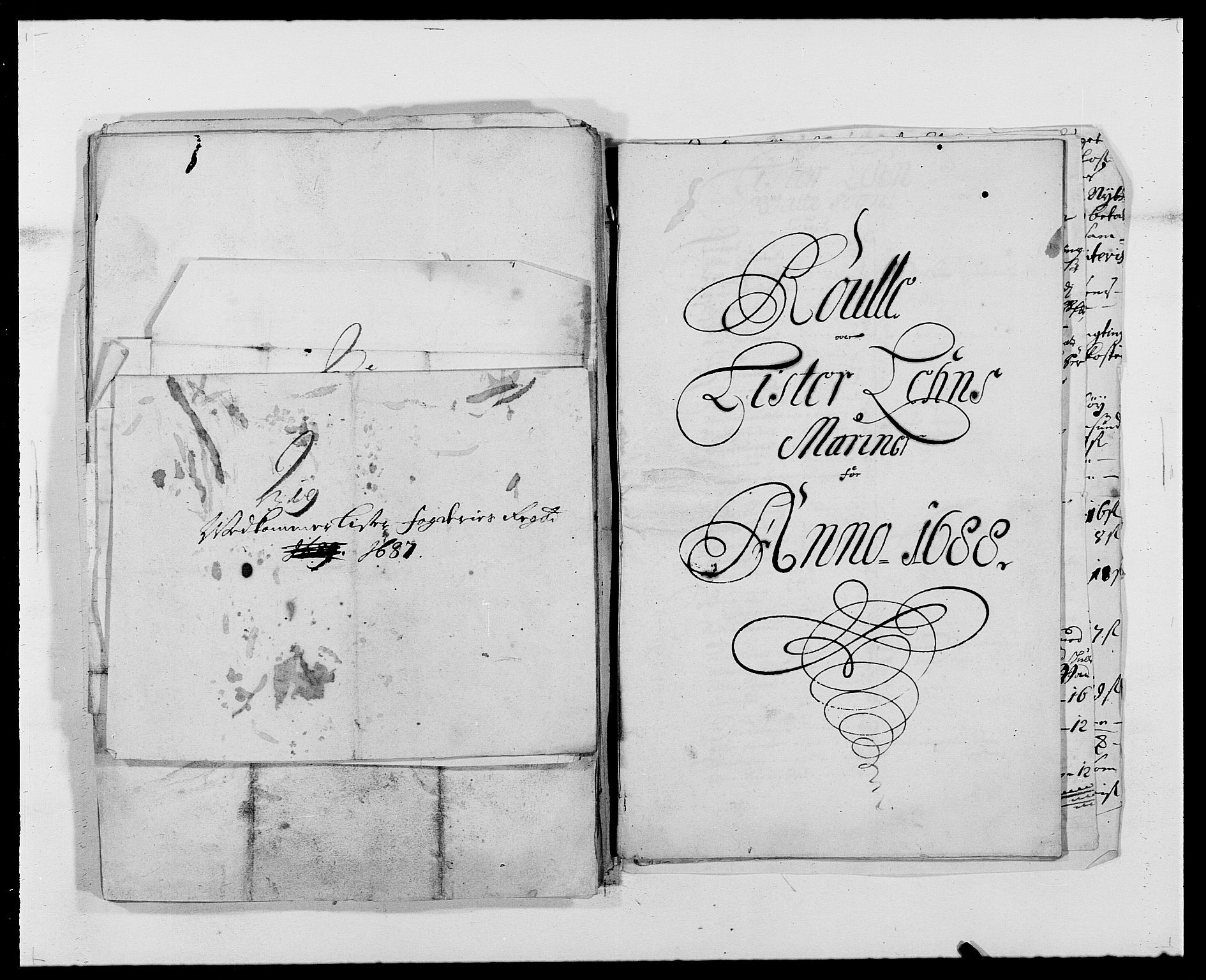 RA, Rentekammeret inntil 1814, Reviderte regnskaper, Fogderegnskap, R41/L2535: Fogderegnskap Lista, 1686-1689, s. 91