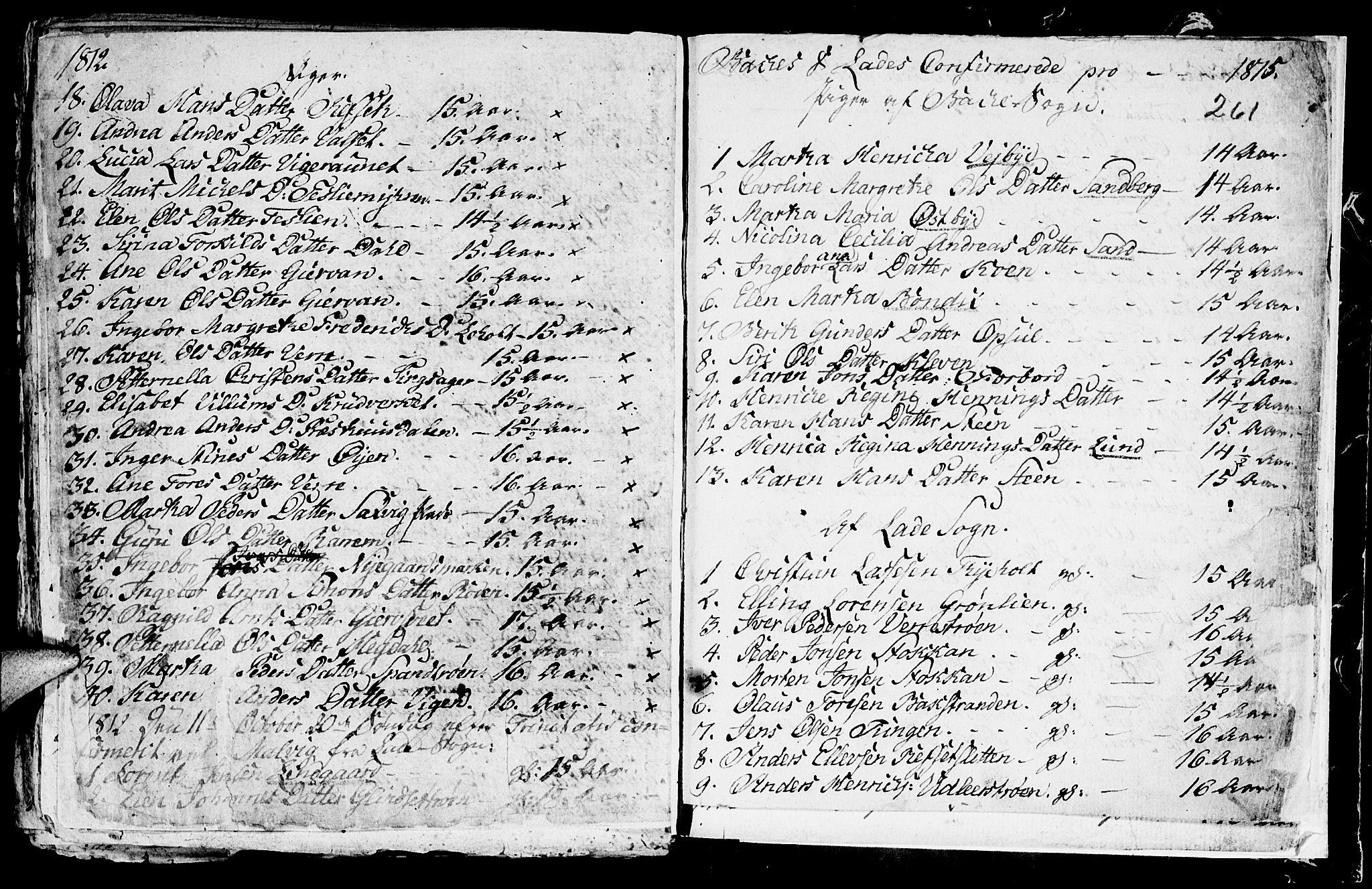 SAT, Ministerialprotokoller, klokkerbøker og fødselsregistre - Sør-Trøndelag, 604/L0218: Klokkerbok nr. 604C01, 1754-1819, s. 261