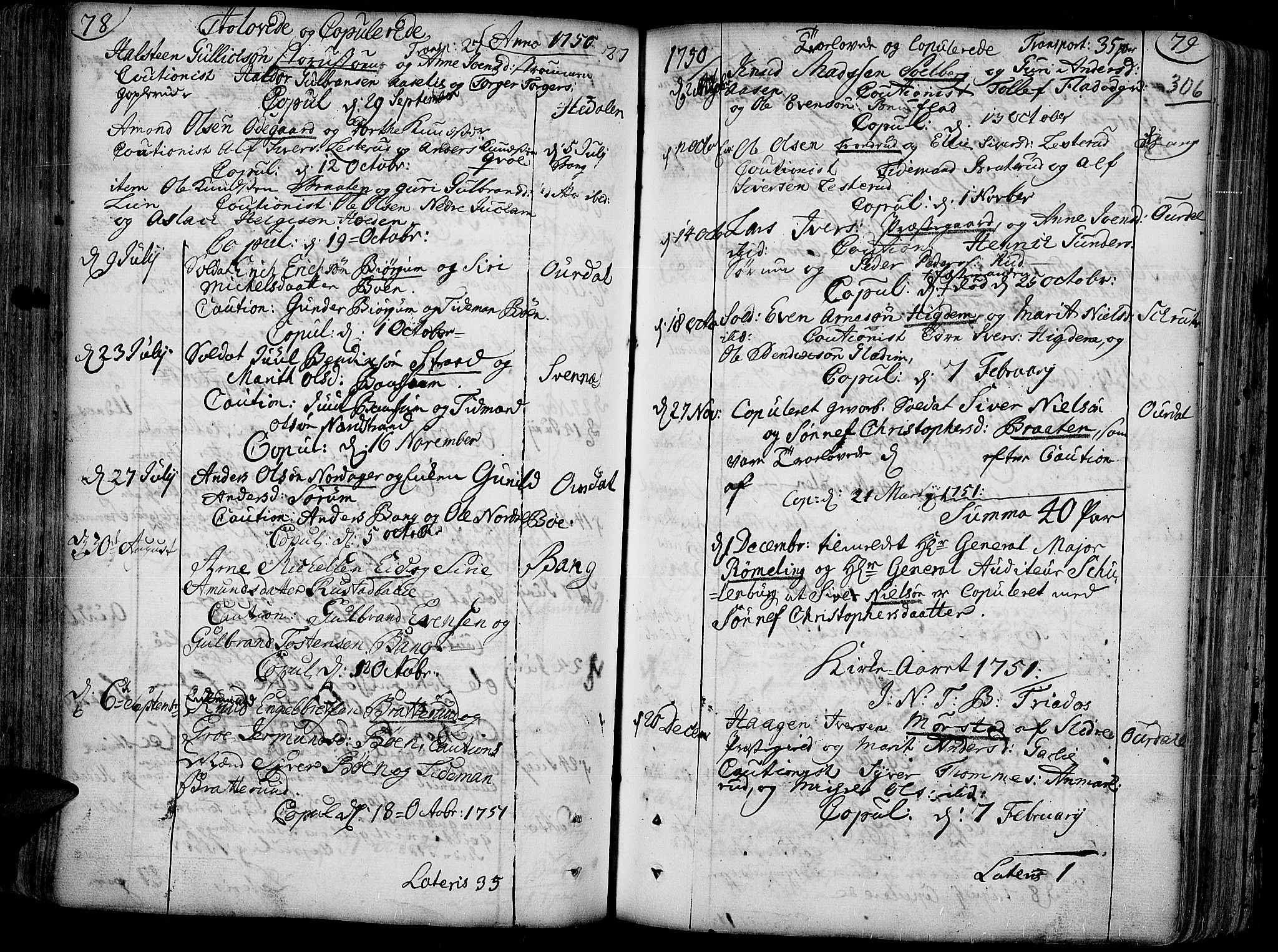 SAH, Aurdal prestekontor, Ministerialbok nr. 4, 1730-1762, s. 78-79