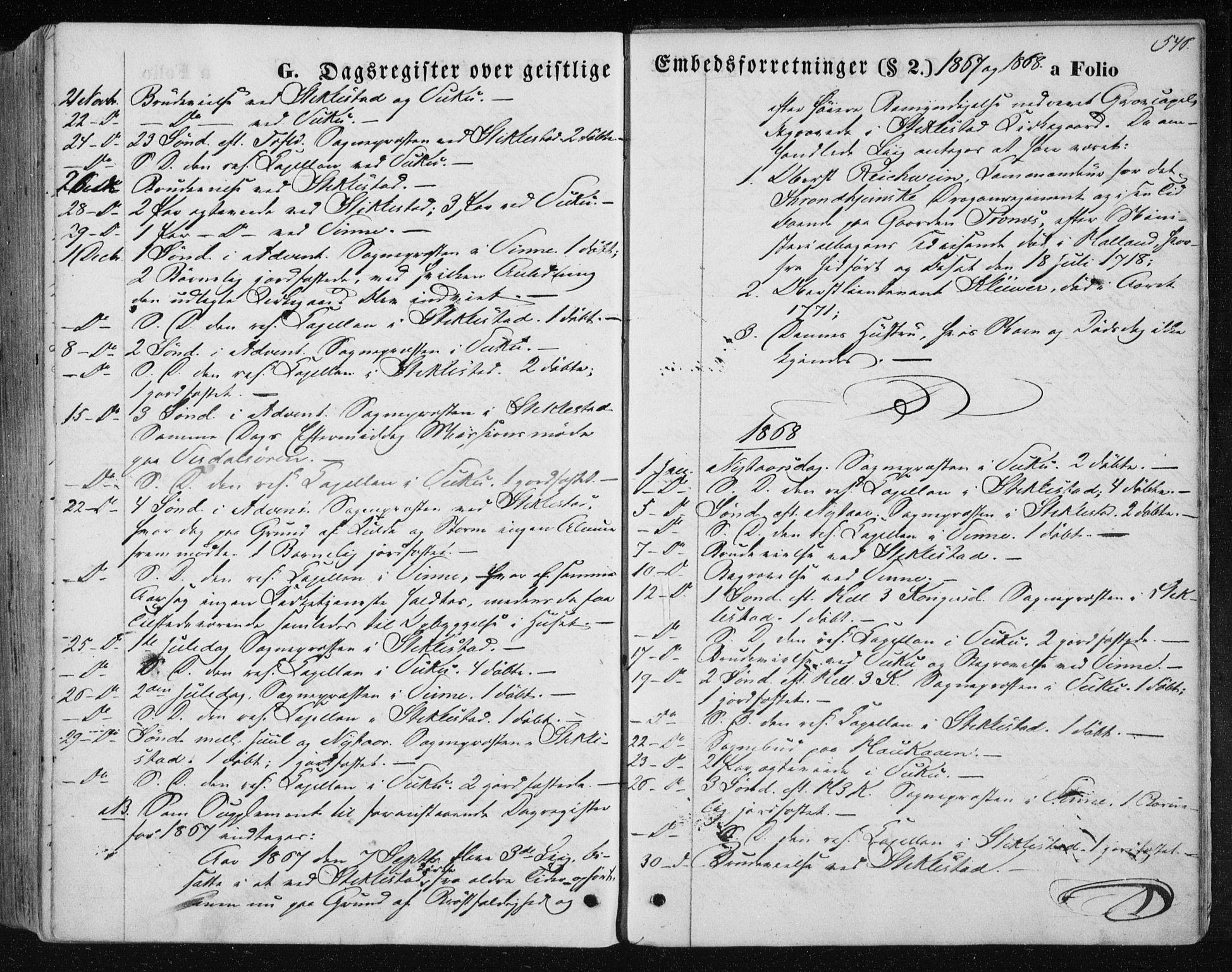 SAT, Ministerialprotokoller, klokkerbøker og fødselsregistre - Nord-Trøndelag, 723/L0241: Ministerialbok nr. 723A10, 1860-1869, s. 546