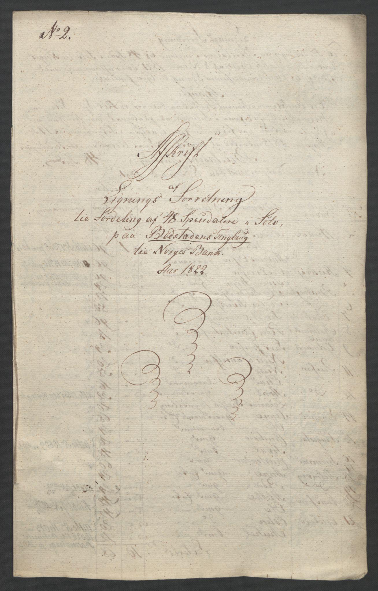 NOBA, Norges Bank/Sølvskatten 1816*, 1816-1822, s. 52