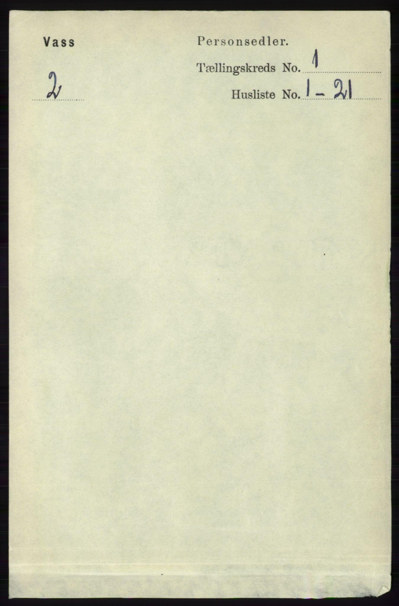 RA, Folketelling 1891 for 1155 Vats herred, 1891, s. 44