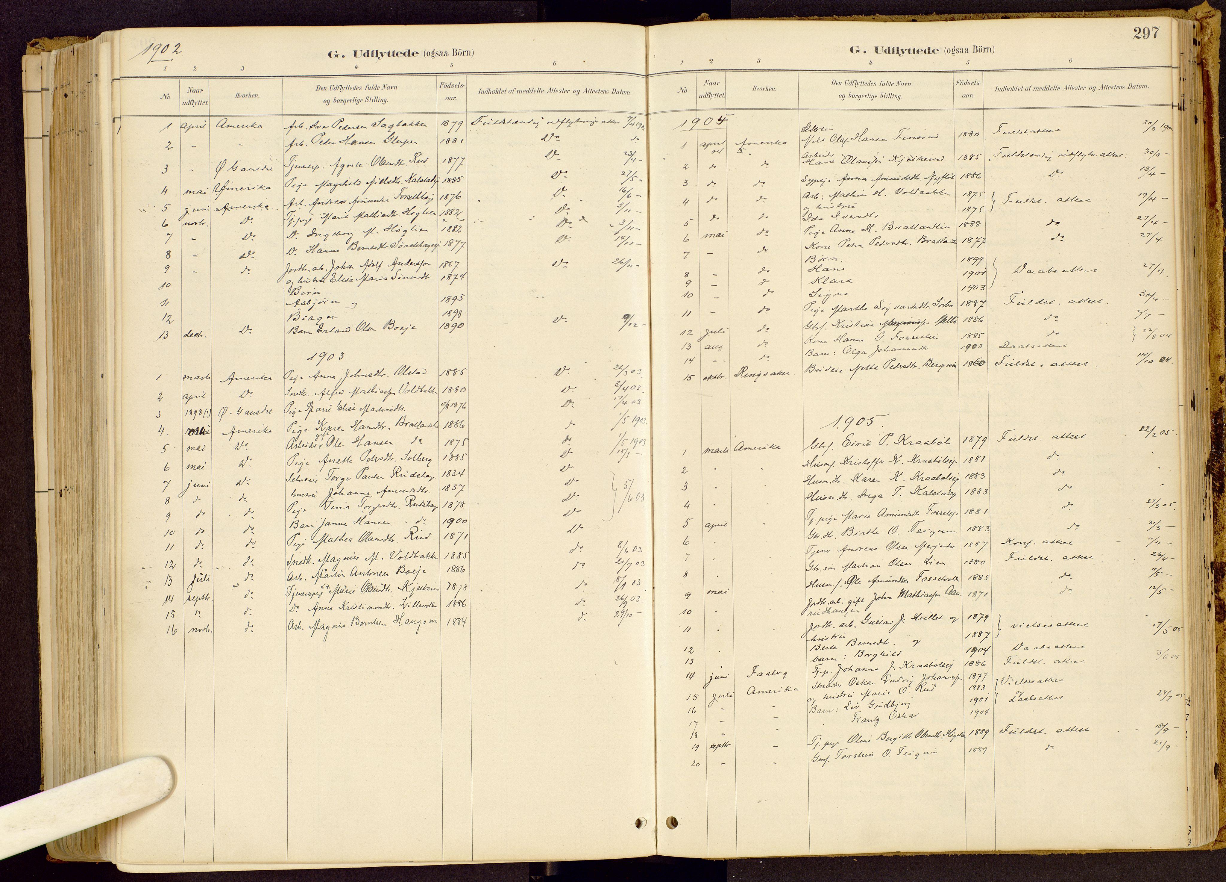 SAH, Vestre Gausdal prestekontor, Ministerialbok nr. 1, 1887-1914, s. 297
