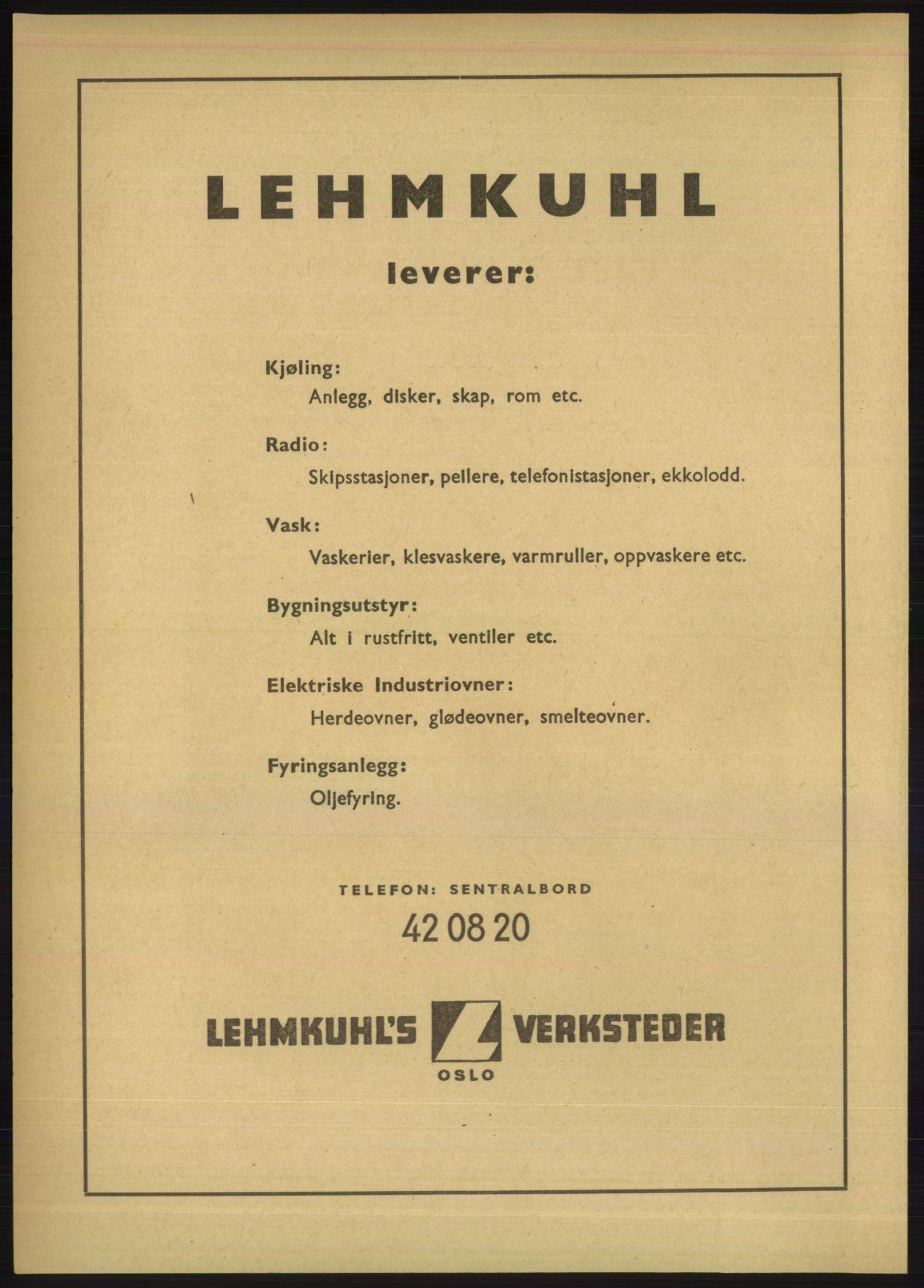 PUBL, Kristiania/Oslo adressebok, 1949