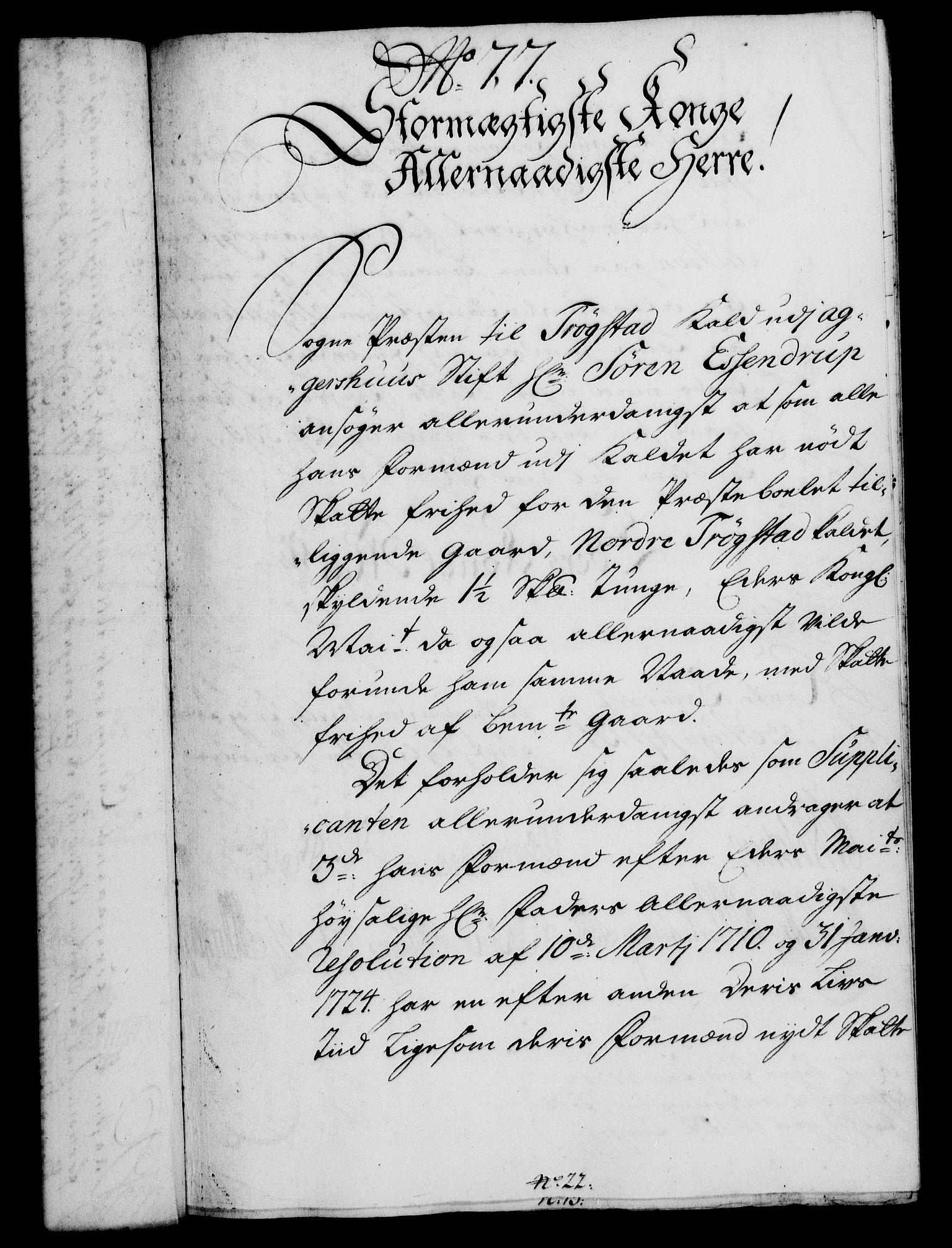 RA, Rentekammeret, Kammerkanselliet, G/Gf/Gfa/L0017: Norsk relasjons- og resolusjonsprotokoll (merket RK 52.17), 1734, s. 401