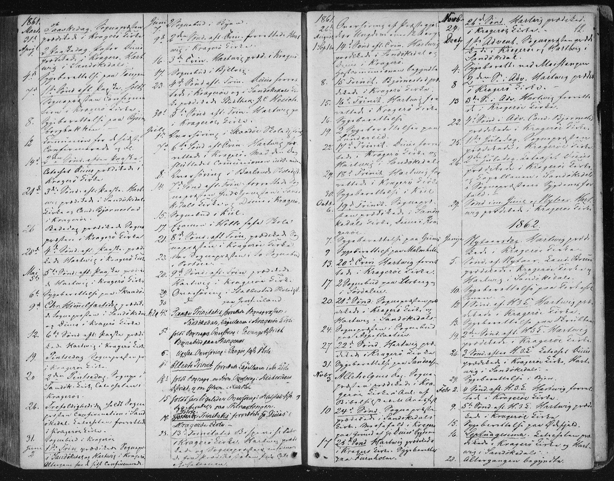 SAKO, Kragerø kirkebøker, F/Fa/L0006: Ministerialbok nr. 6, 1847-1861, s. 12