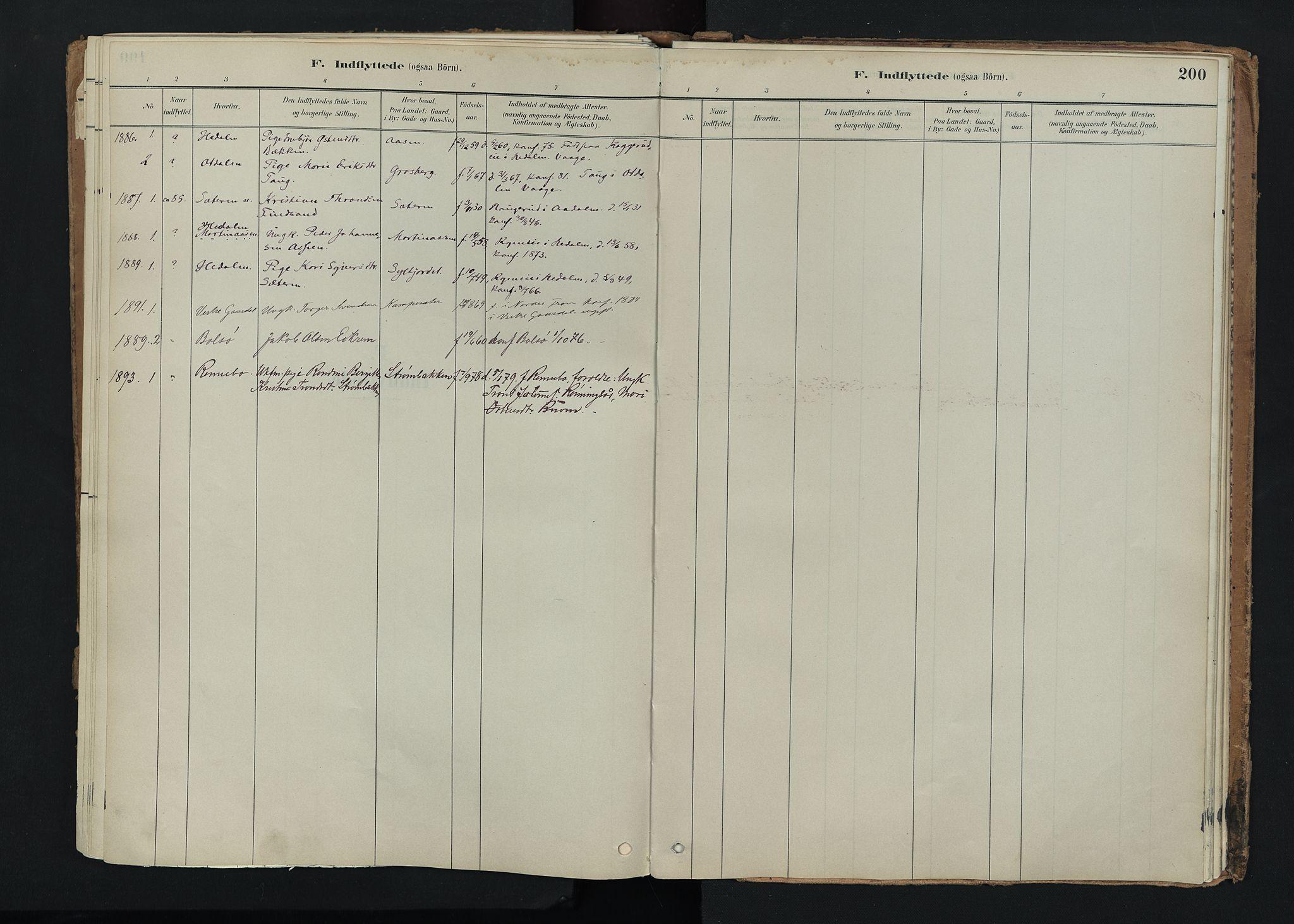 SAH, Nord-Fron prestekontor, Ministerialbok nr. 5, 1884-1914, s. 200