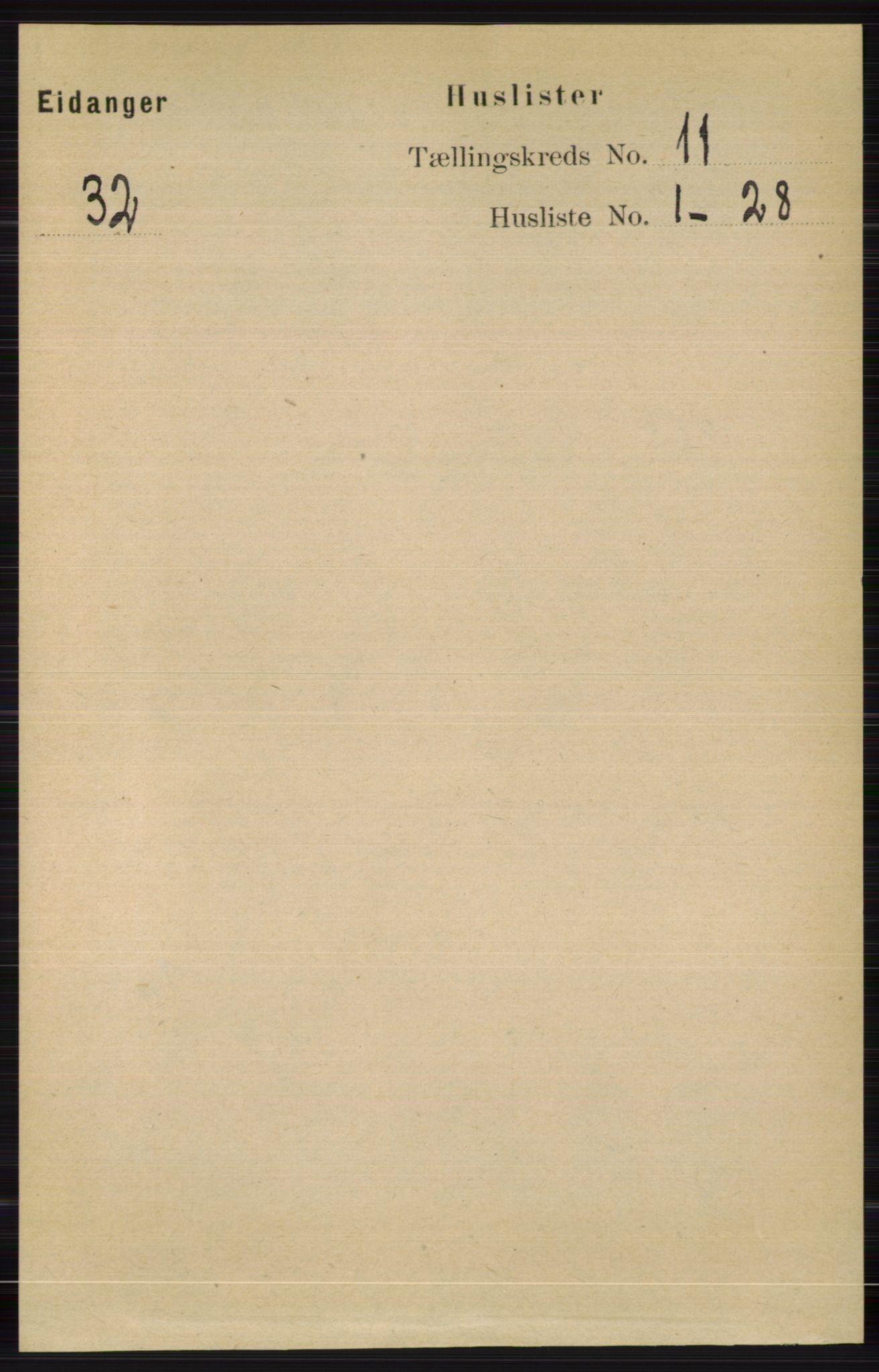 RA, Folketelling 1891 for 0813 Eidanger herred, 1891, s. 4206