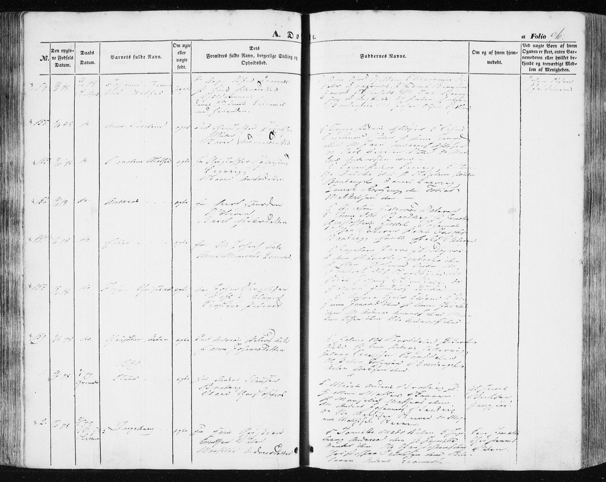 SAT, Ministerialprotokoller, klokkerbøker og fødselsregistre - Sør-Trøndelag, 634/L0529: Ministerialbok nr. 634A05, 1843-1851, s. 96