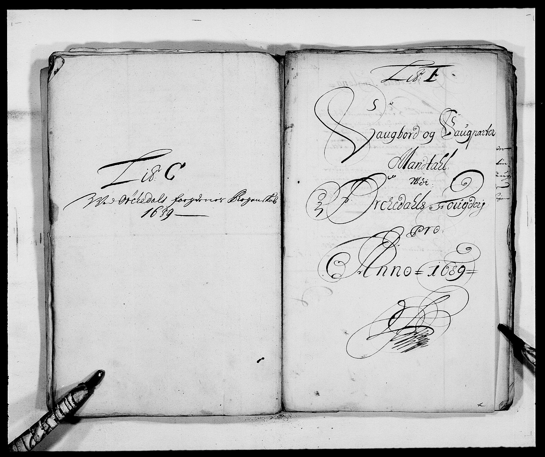 RA, Rentekammeret inntil 1814, Reviderte regnskaper, Fogderegnskap, R58/L3936: Fogderegnskap Orkdal, 1689-1690, s. 66