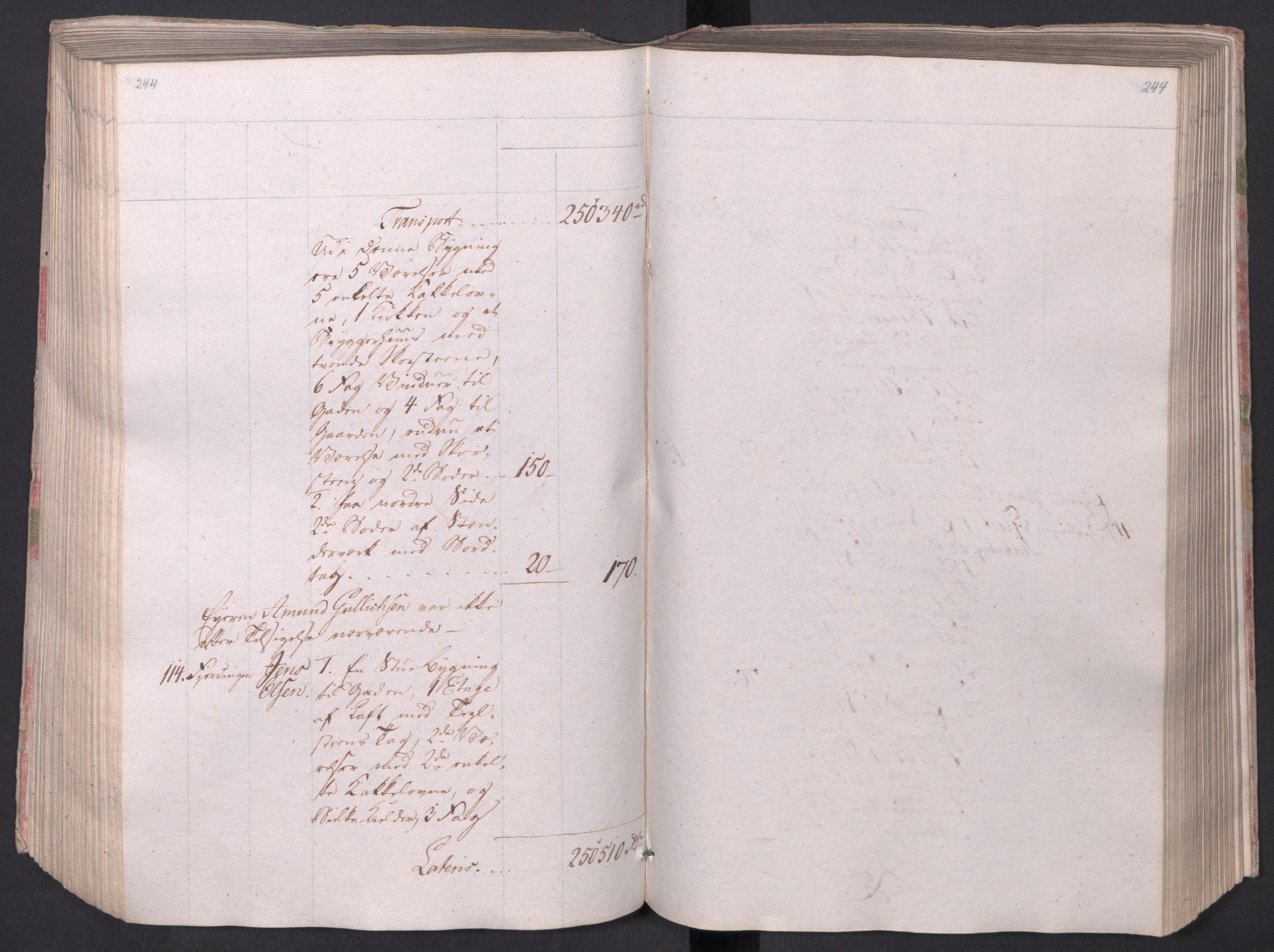 SAO, Kristiania stiftamt, I/Ia/L0015: Branntakster, 1797, s. 244