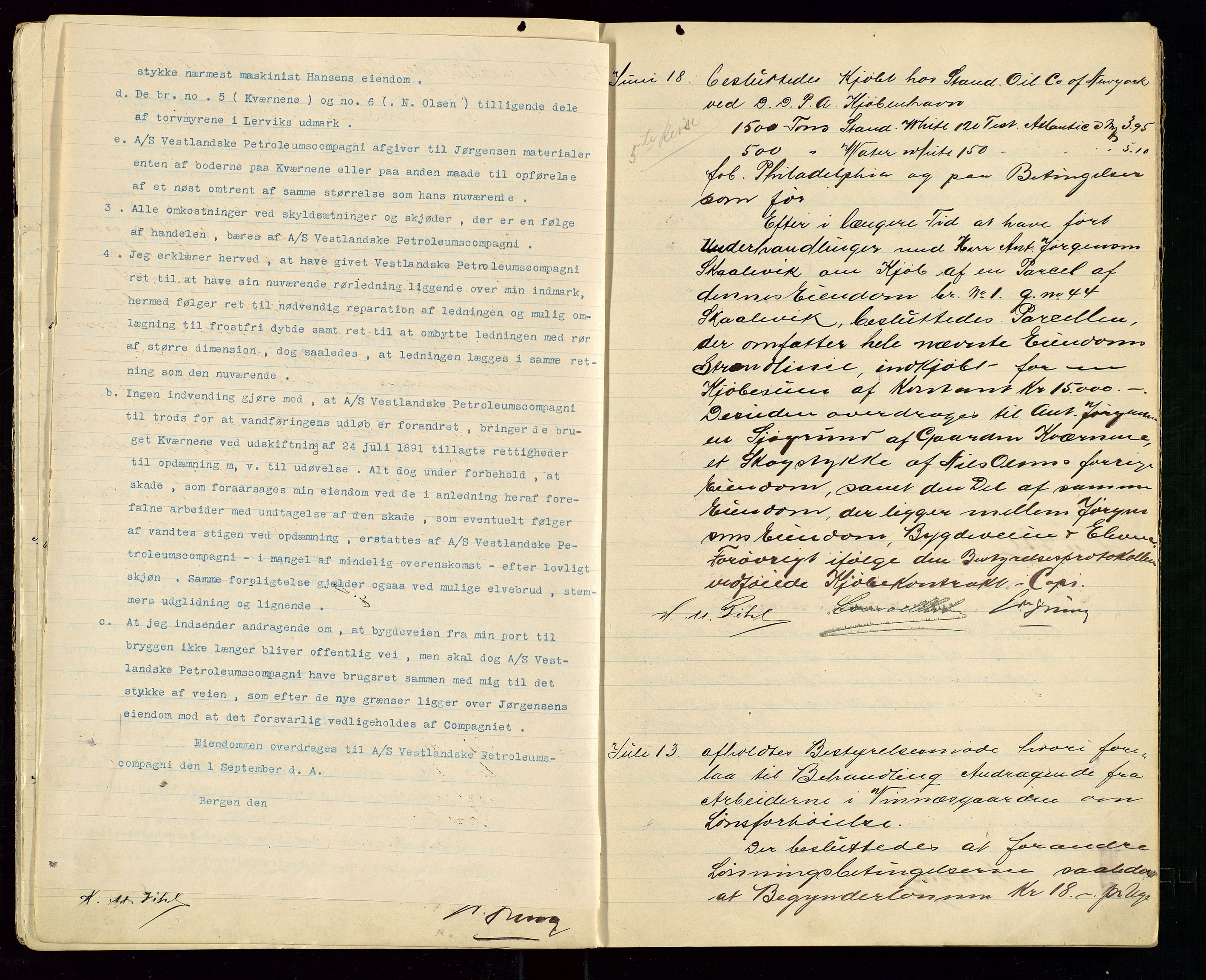 SAST, PA 1533 - A/S Vestlandske Petroleumscompani, A/Aa/L0001: Generalforsamlinger og styreprotokoller, 1907-1915, s. 8