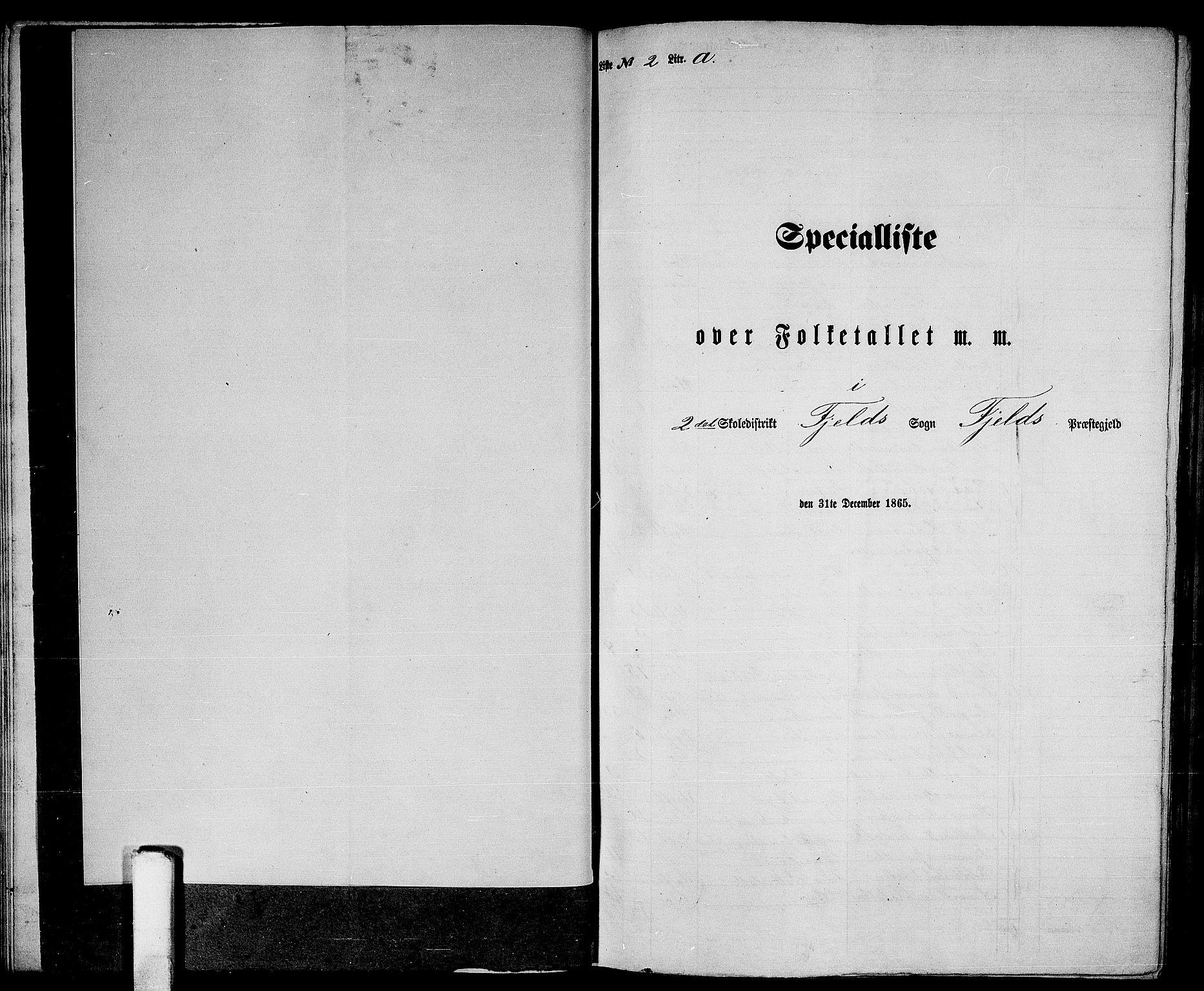 RA, Folketelling 1865 for 1246P Fjell prestegjeld, 1865, s. 29