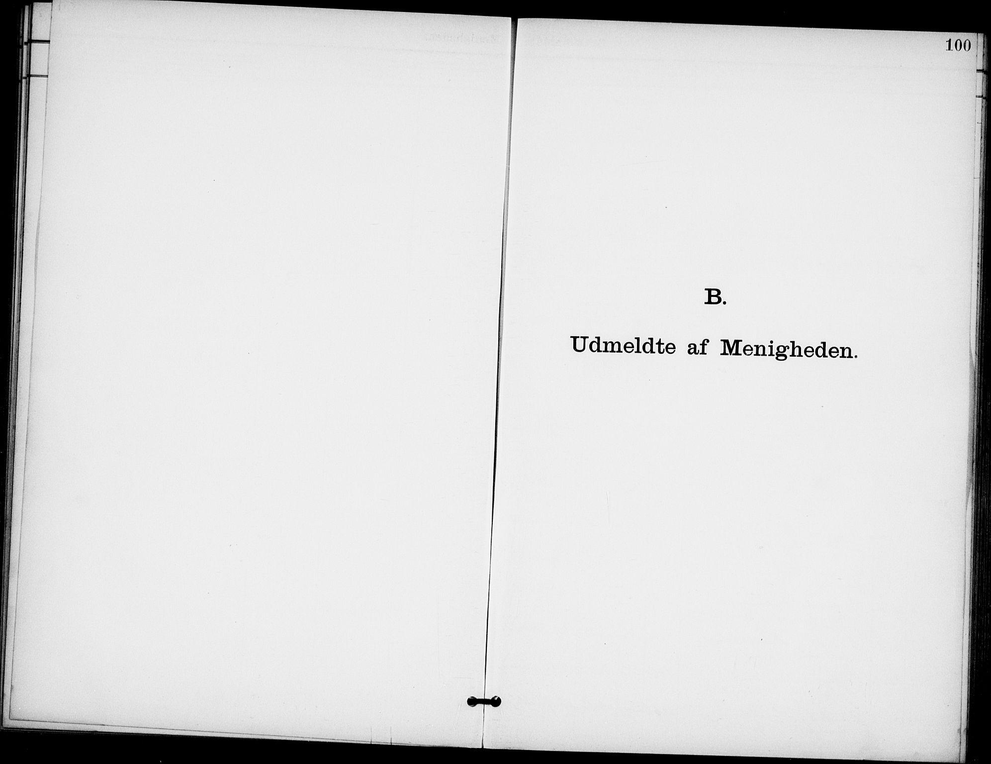 SAO, Broderskapets kirke Oslo , A/L0001: Dissenterprotokoll nr. 1, 1880-1935, s. 100