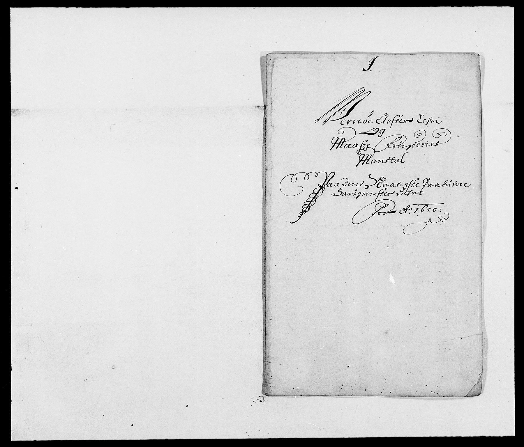 RA, Rentekammeret inntil 1814, Reviderte regnskaper, Fogderegnskap, R02/L0101: Fogderegnskap Moss og Verne kloster, 1680, s. 219