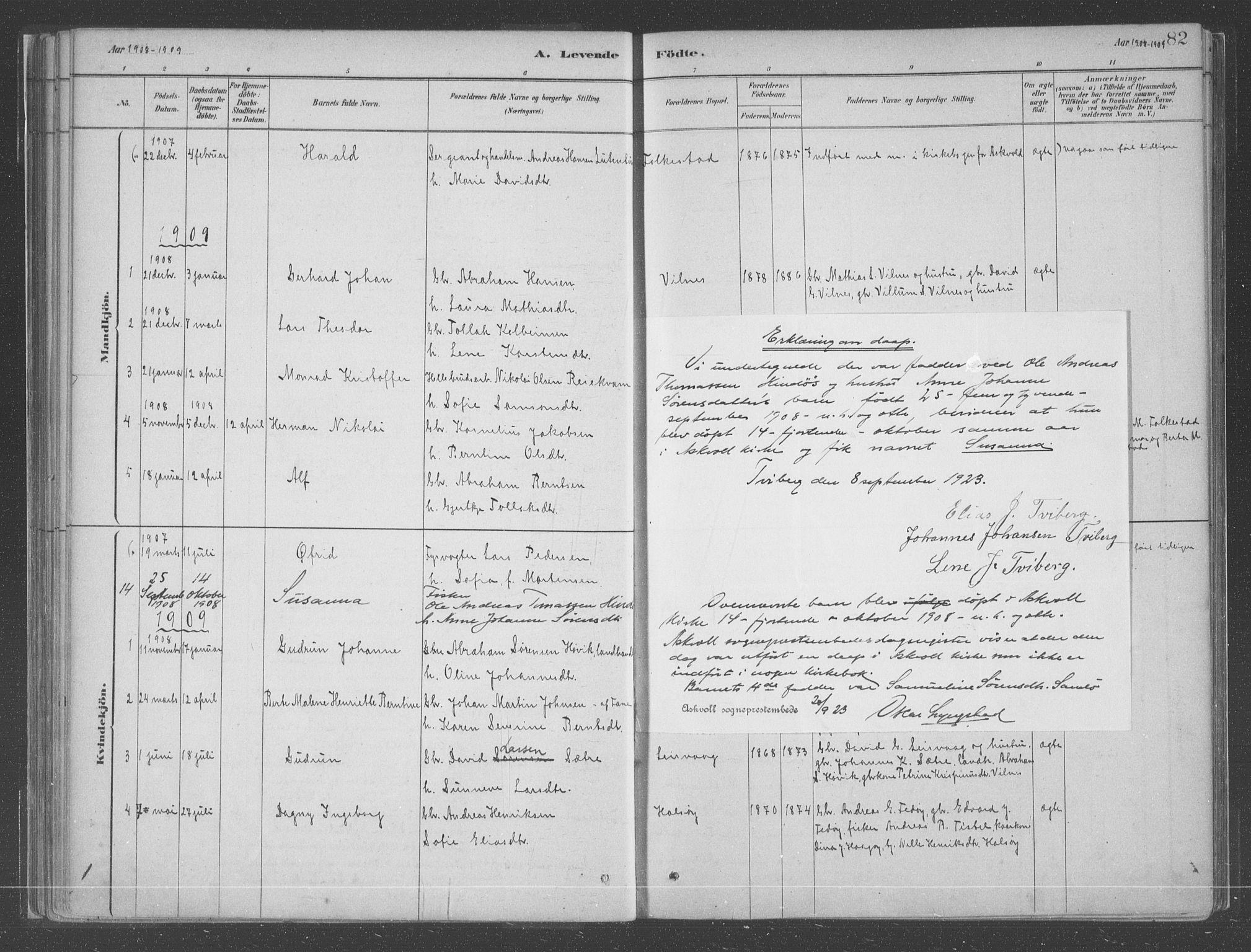 SAB, Askvoll Sokneprestembete, Ministerialbok nr. C  1, 1879-1922, s. 82
