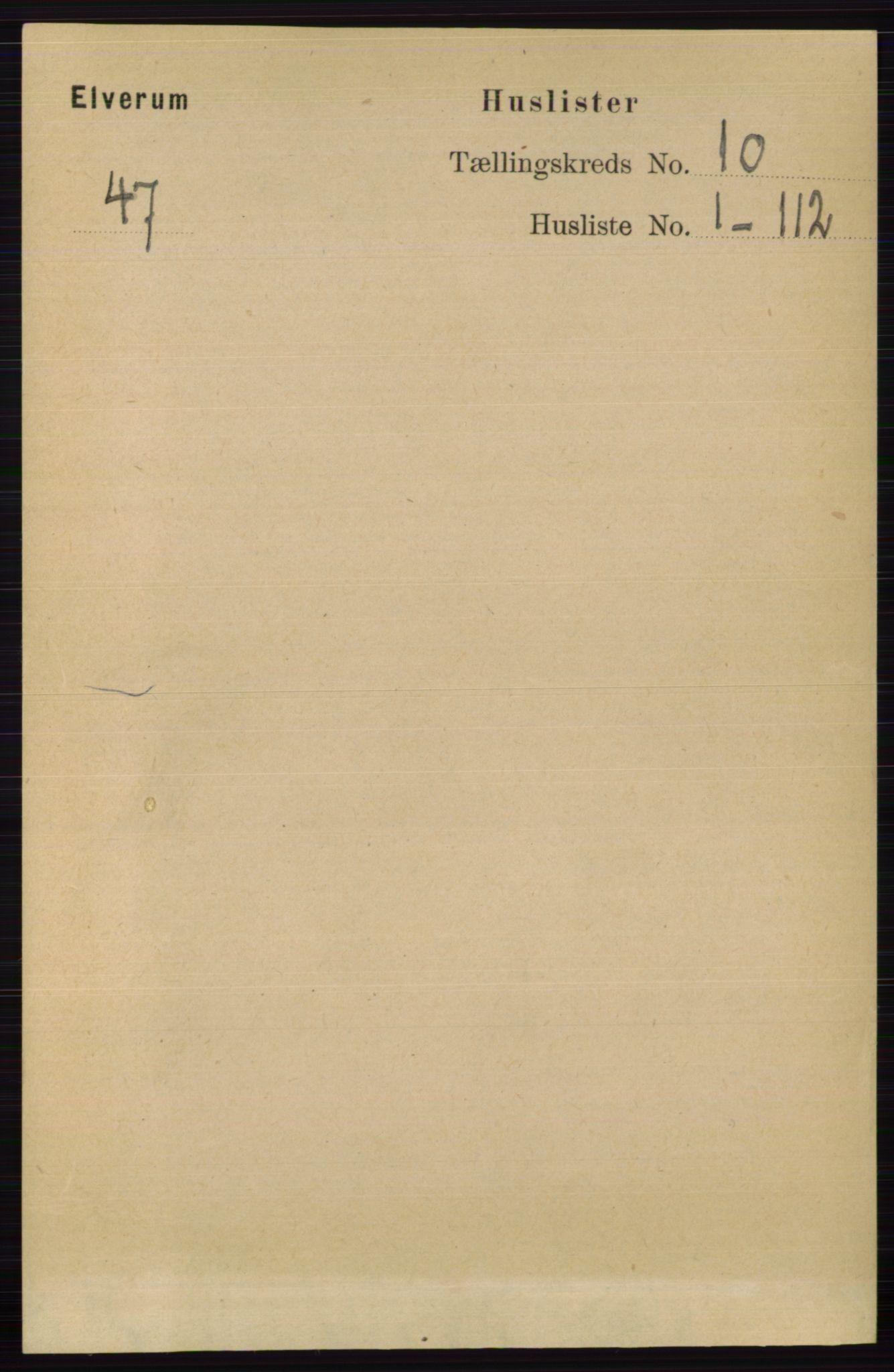 RA, Folketelling 1891 for 0427 Elverum herred, 1891, s. 8082