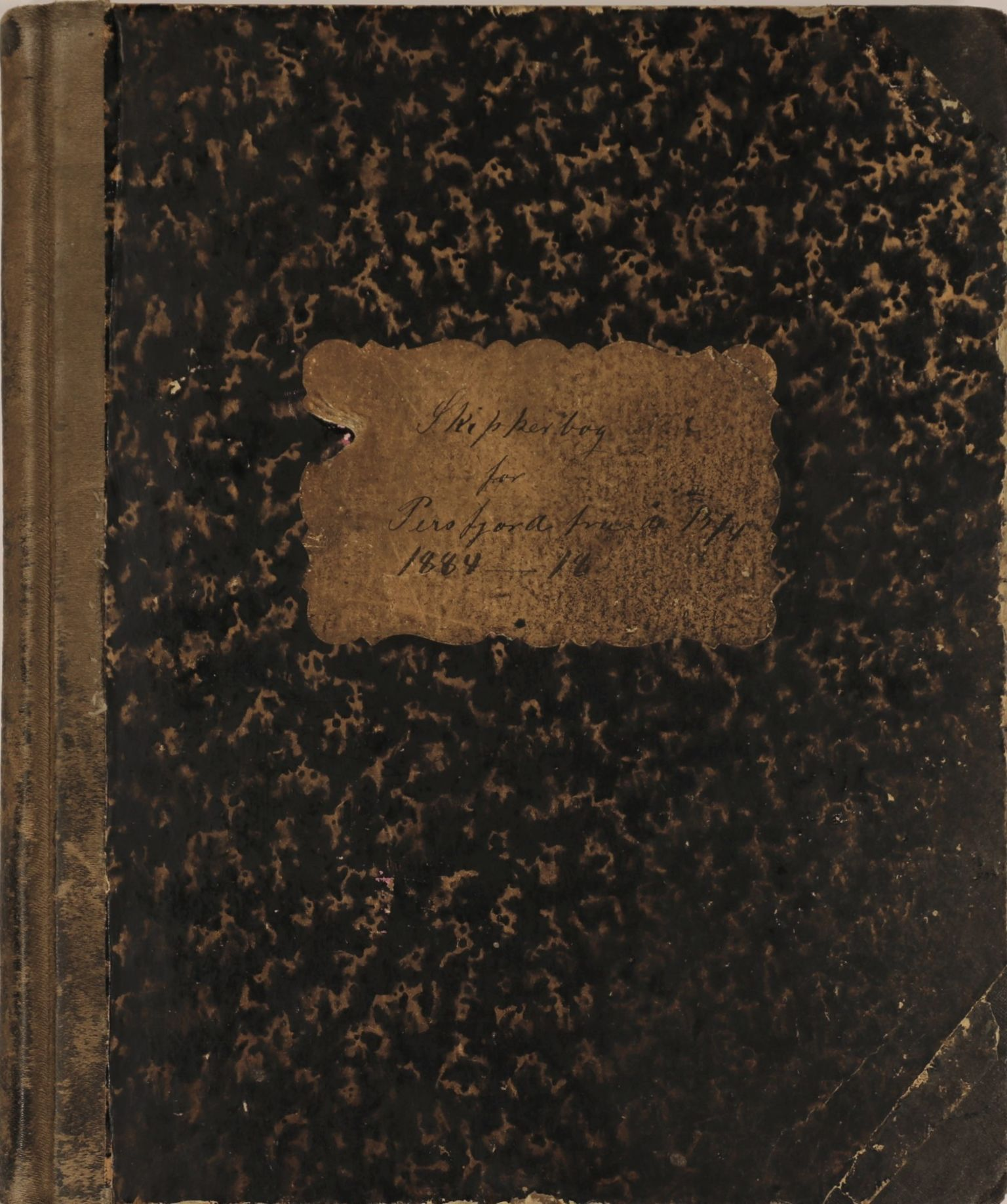 VAMU, Brodtkorb handel A/S, E/Ea/L0003: Skipperbøker. Persfjord, 1884-1890