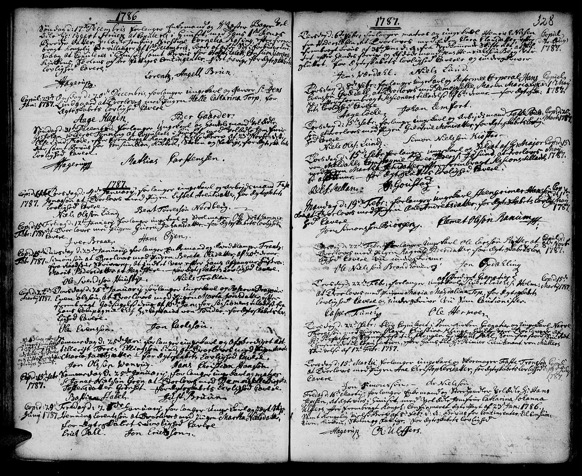SAT, Ministerialprotokoller, klokkerbøker og fødselsregistre - Sør-Trøndelag, 601/L0038: Ministerialbok nr. 601A06, 1766-1877, s. 328