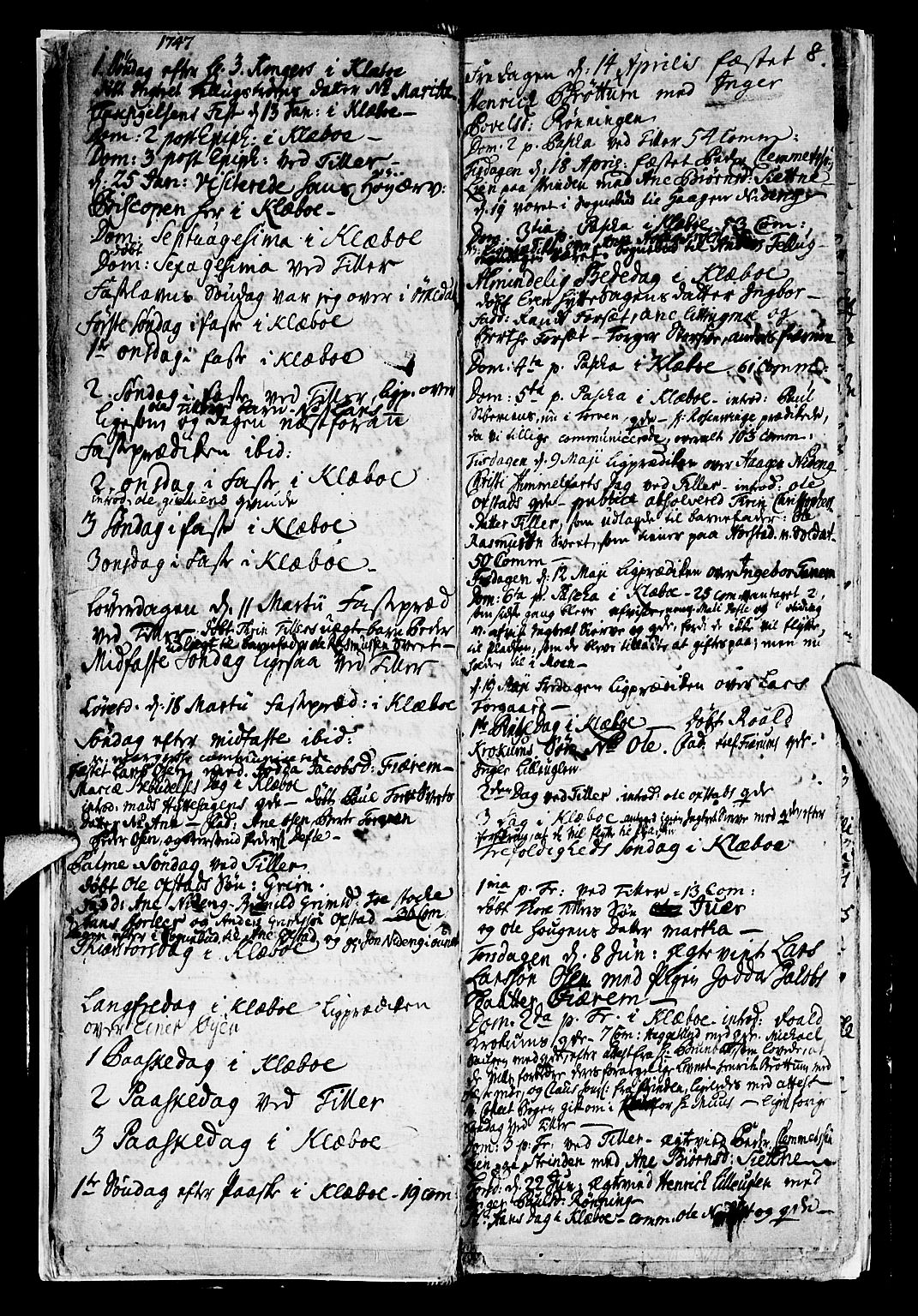 SAT, Ministerialprotokoller, klokkerbøker og fødselsregistre - Sør-Trøndelag, 618/L0436: Ministerialbok nr. 618A01, 1741-1749, s. 8