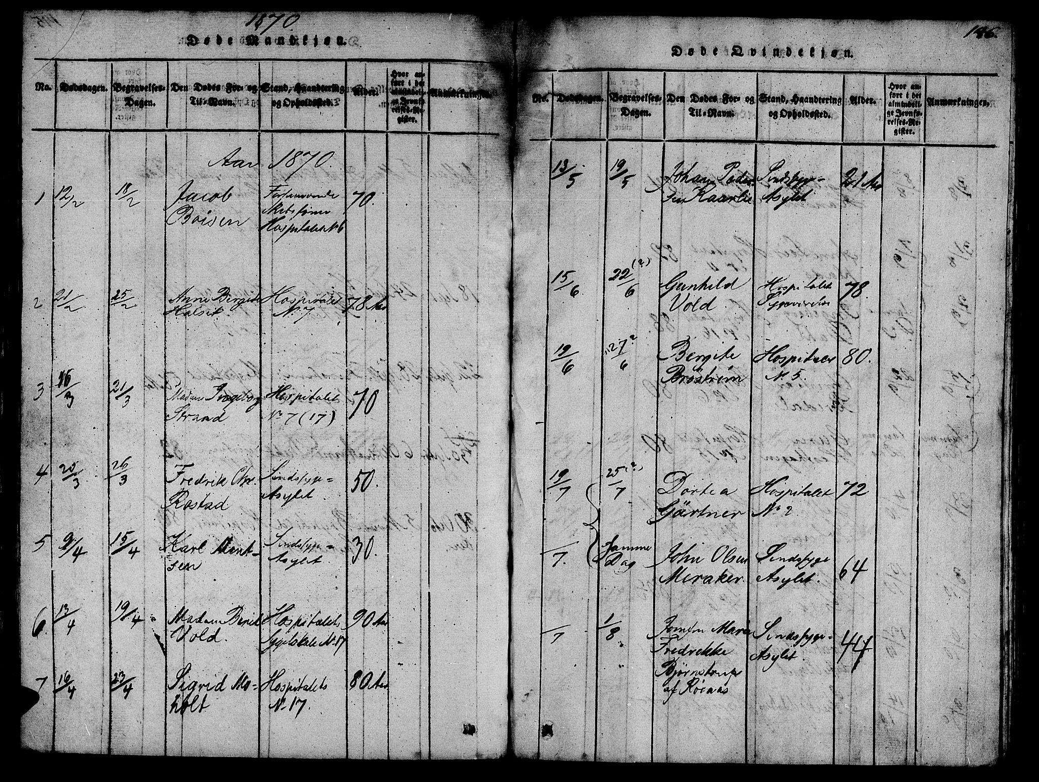 SAT, Ministerialprotokoller, klokkerbøker og fødselsregistre - Sør-Trøndelag, 623/L0478: Klokkerbok nr. 623C01, 1815-1873, s. 146