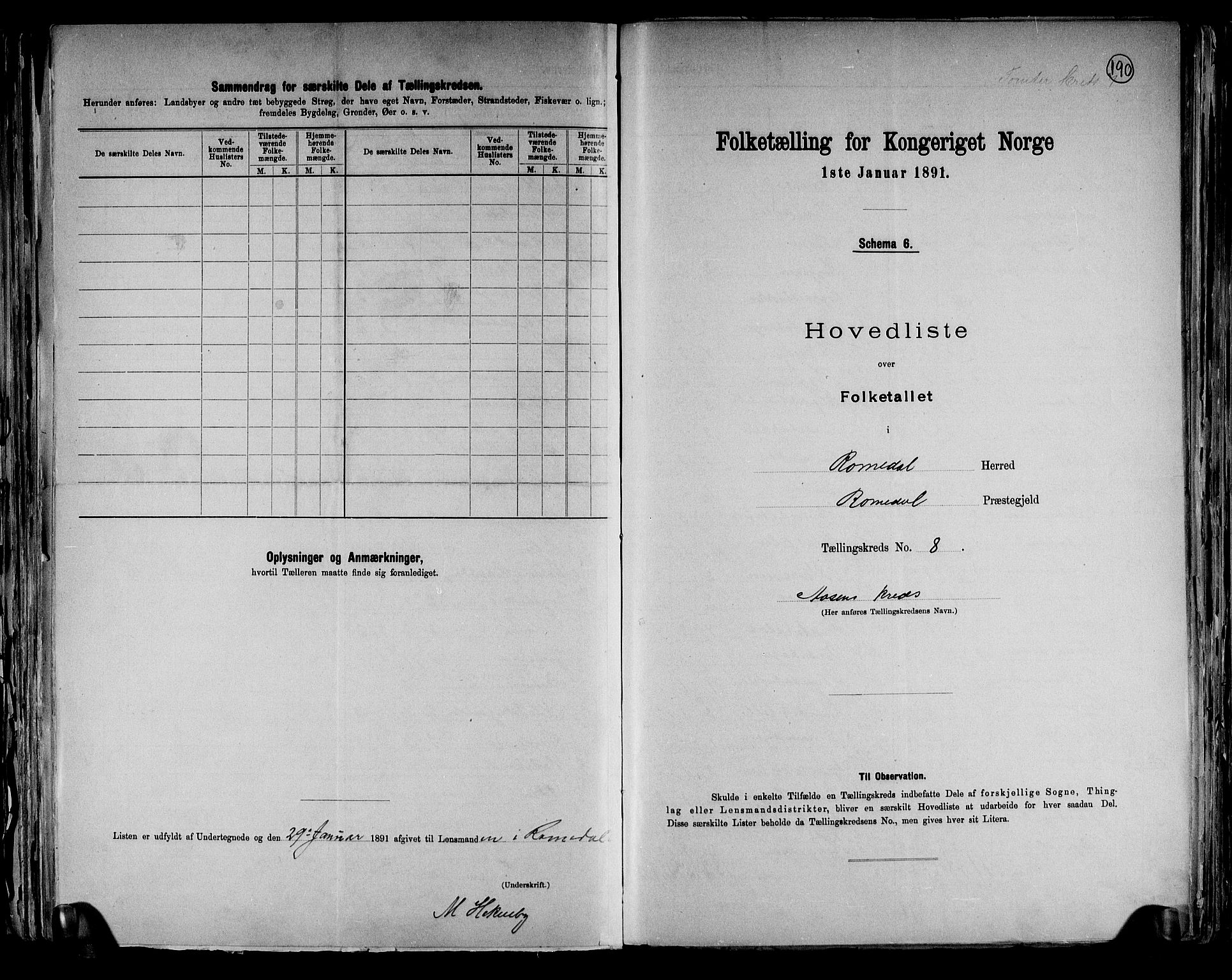 RA, Folketelling 1891 for 0416 Romedal herred, 1891, s. 19