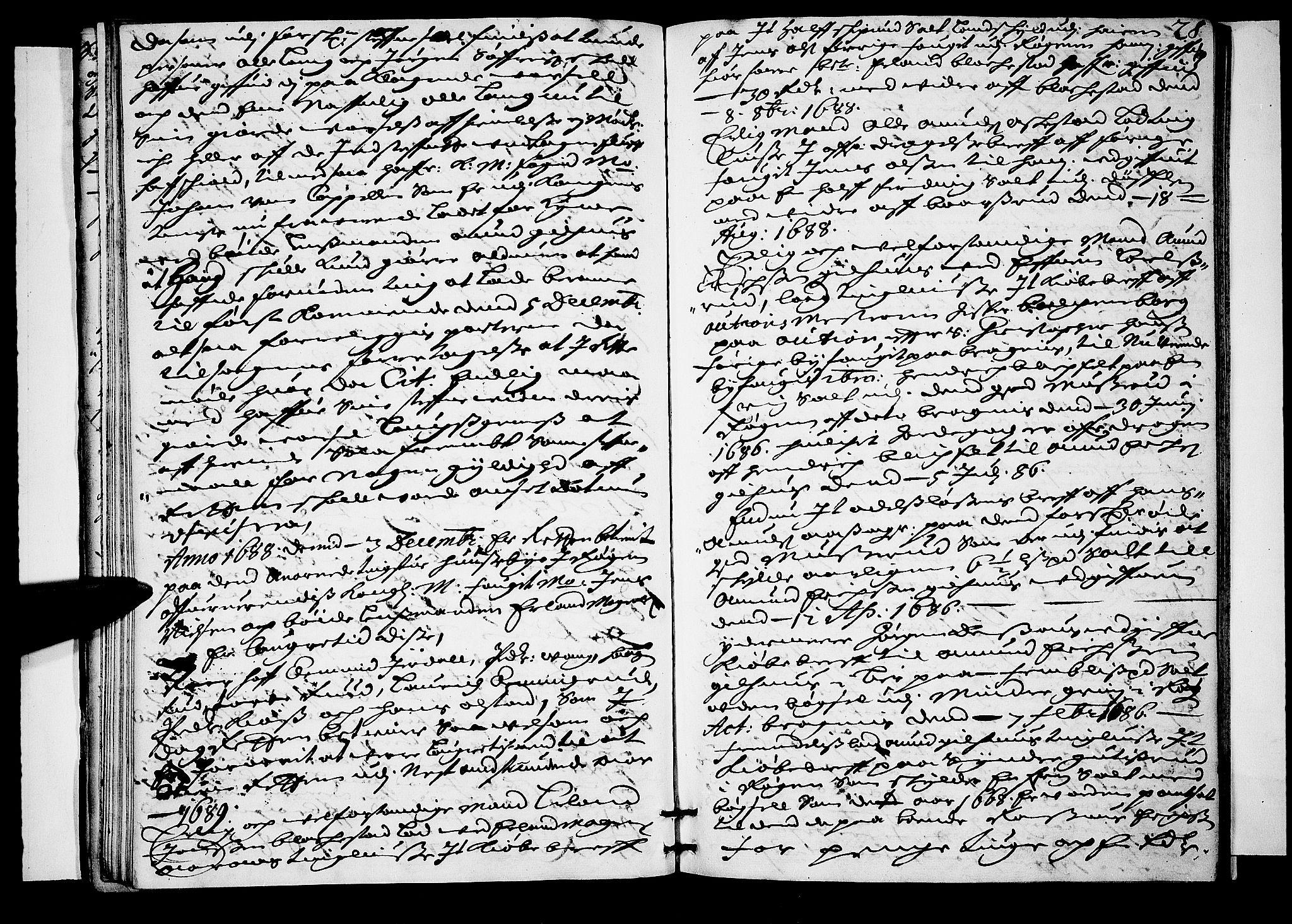 SAKO, Lier, Røyken og Hurum sorenskriveri, F/Fa/L0029: Tingbok, 1688, s. 28