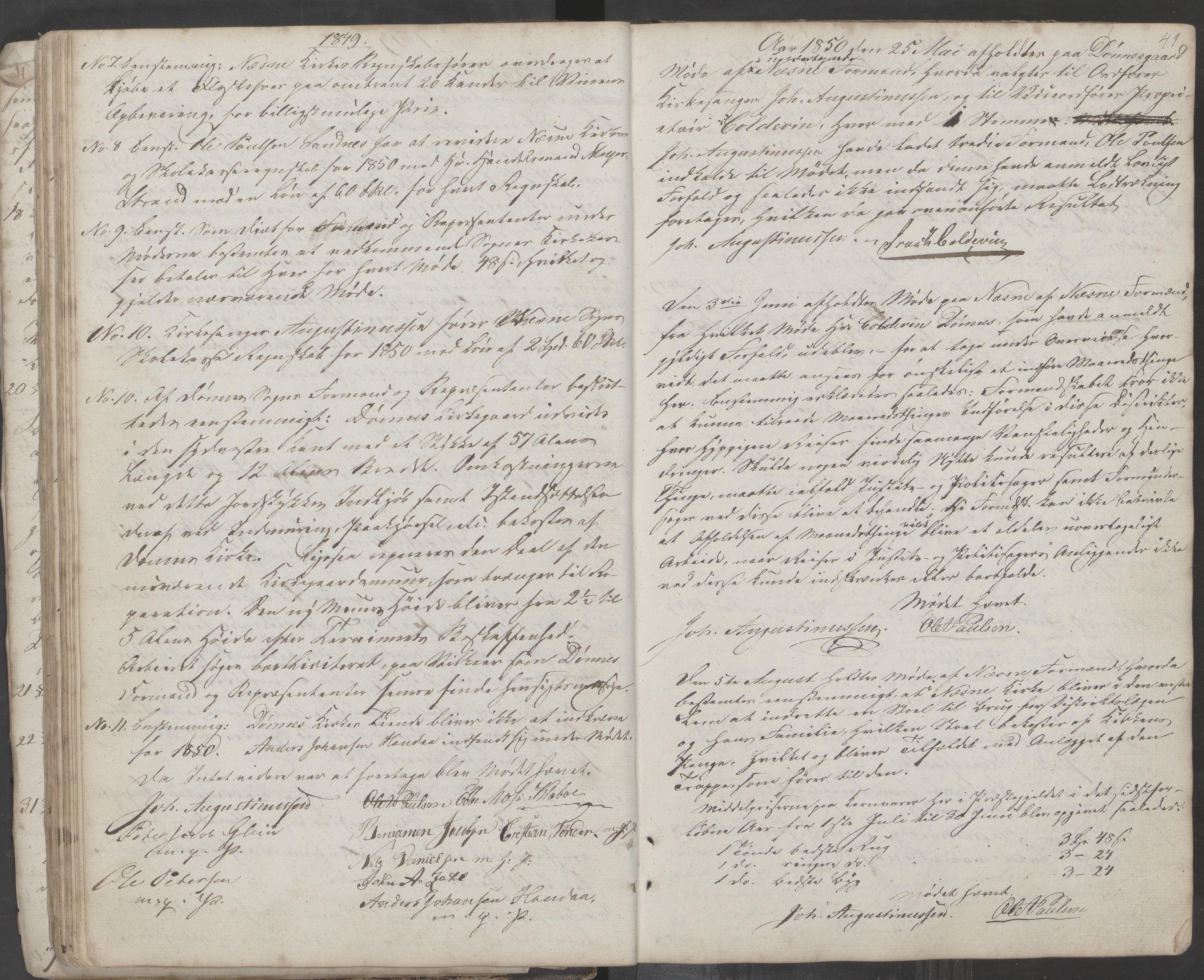 AIN, Nesna kommune. Formannskapet, 100/L0001: Møtebok, 1838-1873, s. 41