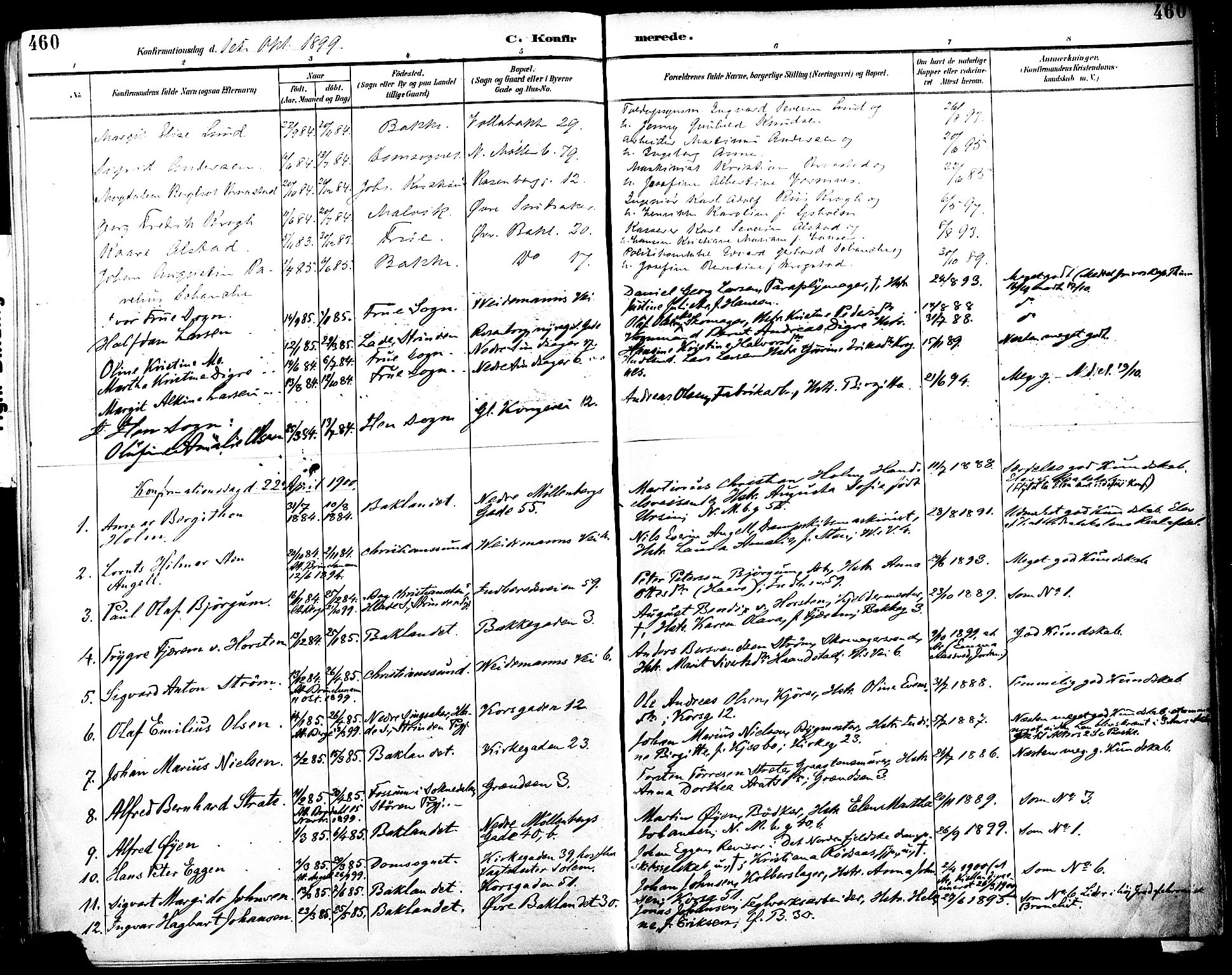 SAT, Ministerialprotokoller, klokkerbøker og fødselsregistre - Sør-Trøndelag, 604/L0197: Ministerialbok nr. 604A18, 1893-1900, s. 460