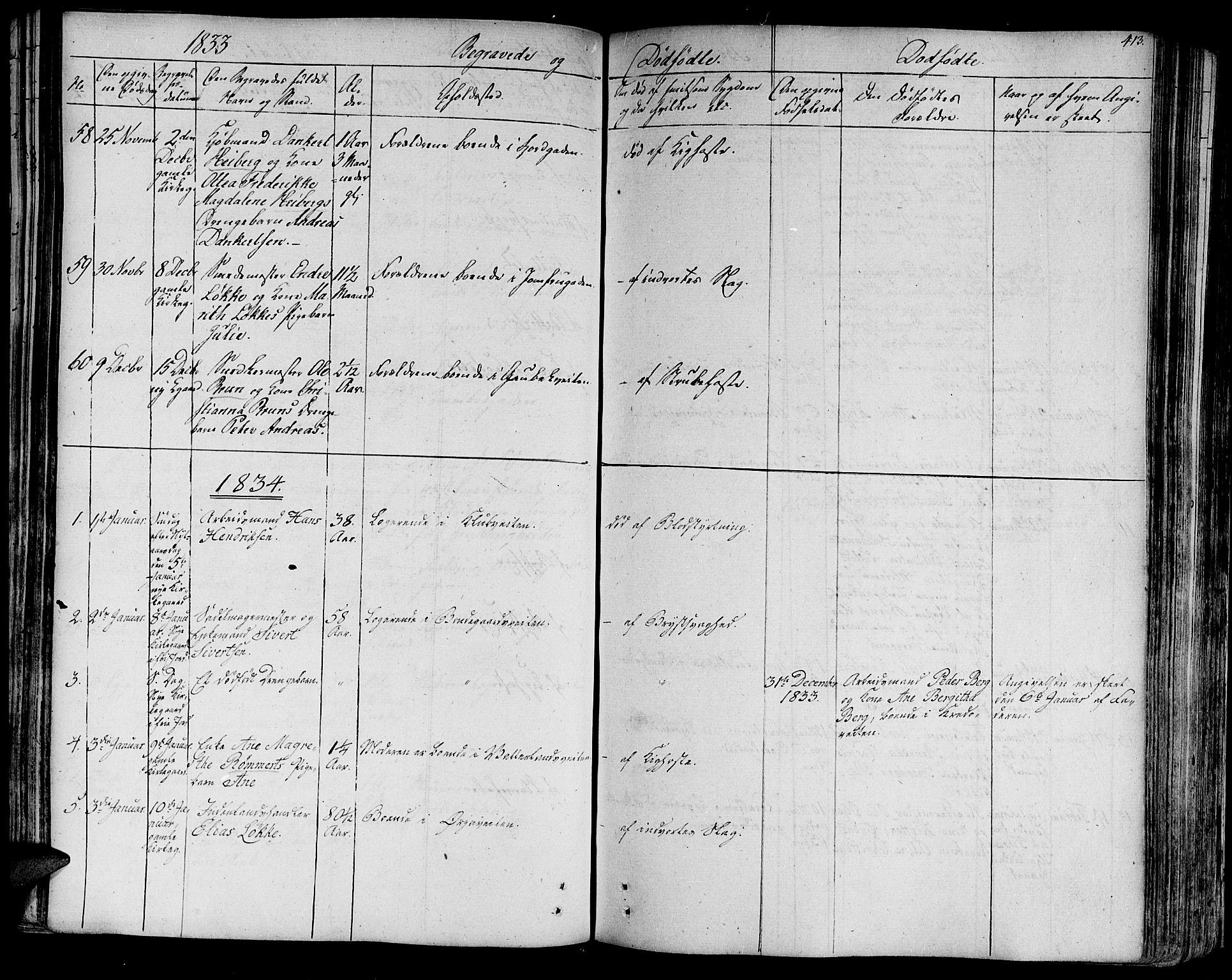 SAT, Ministerialprotokoller, klokkerbøker og fødselsregistre - Sør-Trøndelag, 602/L0109: Ministerialbok nr. 602A07, 1821-1840, s. 413