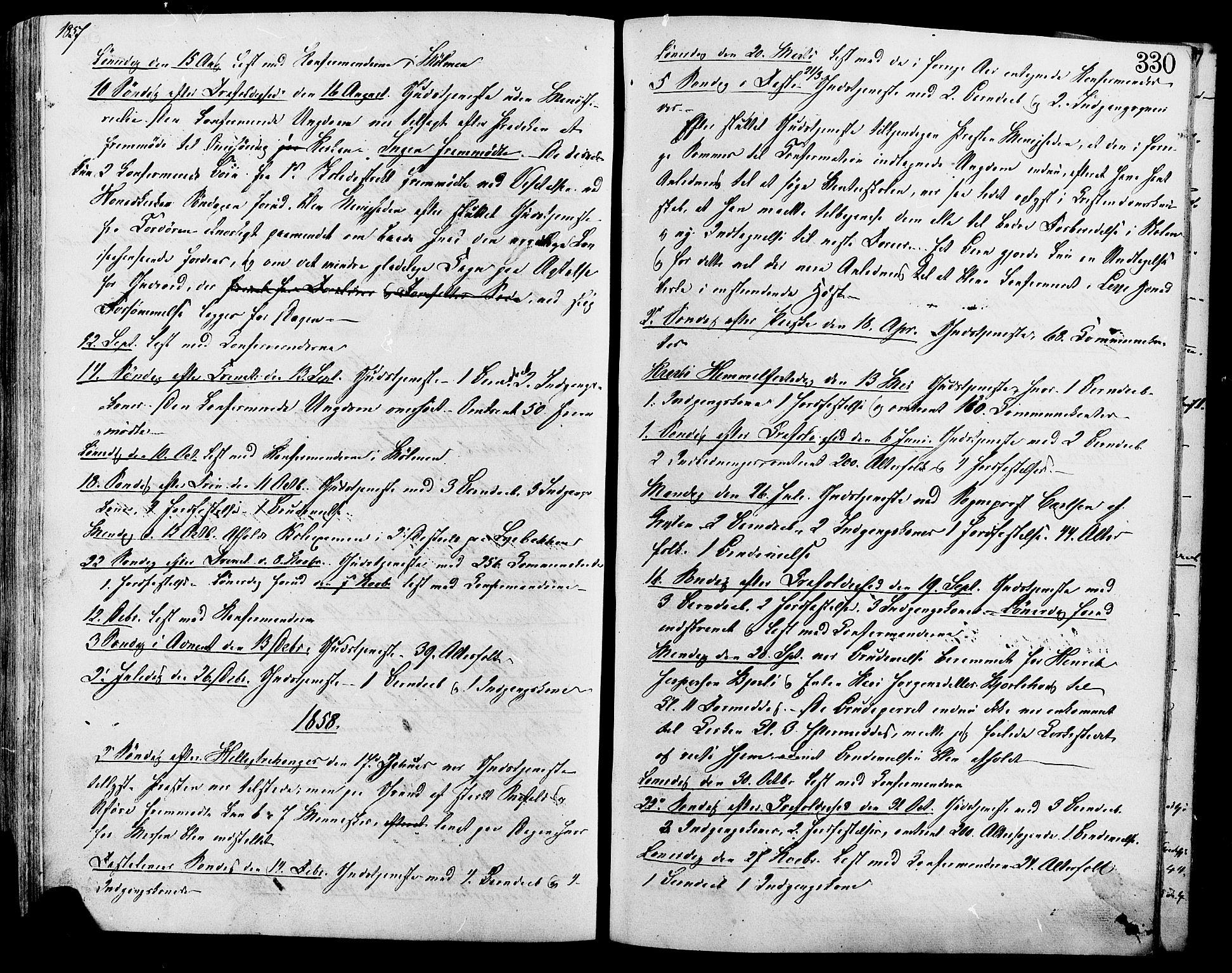 SAH, Lesja prestekontor, Ministerialbok nr. 9, 1854-1889, s. 330