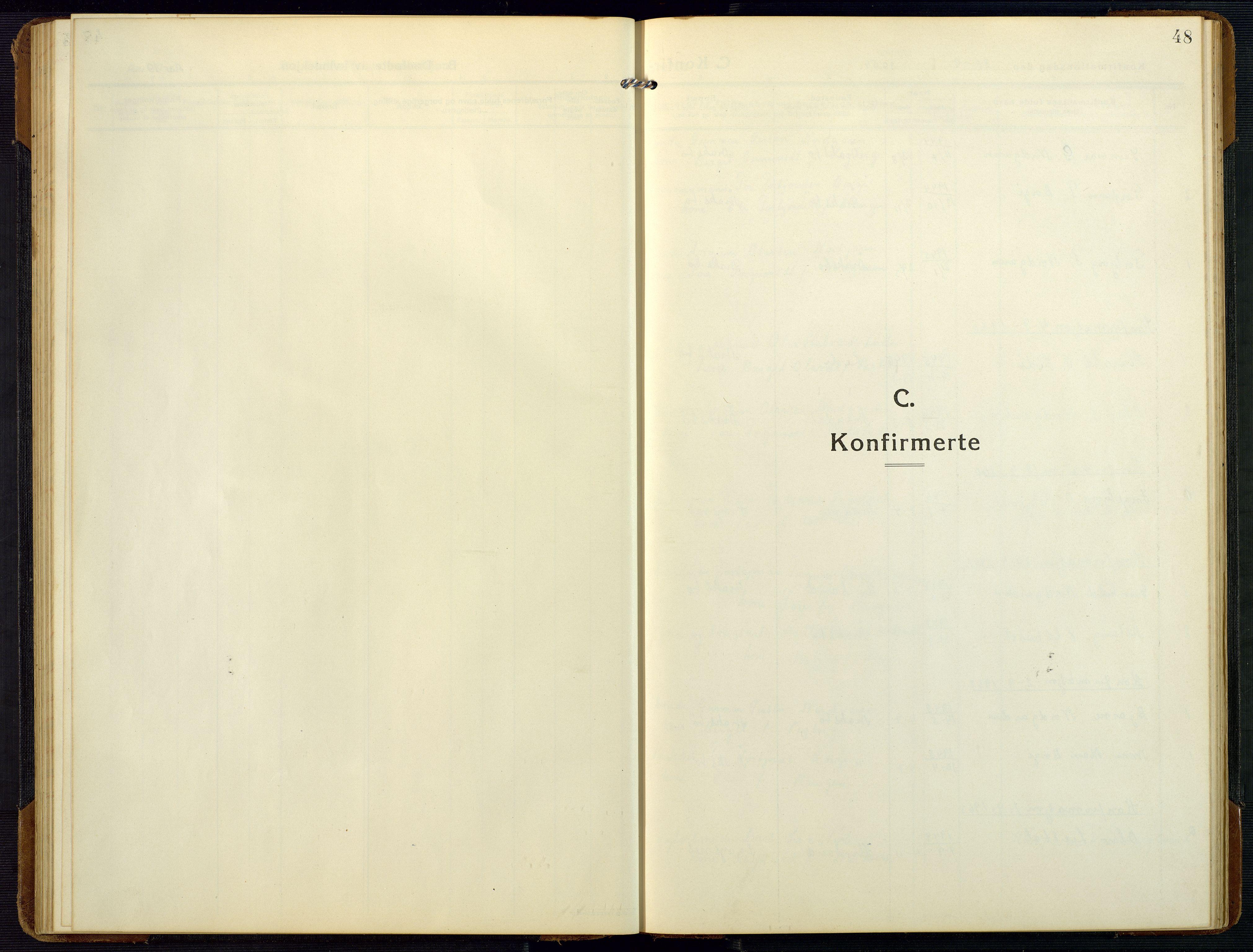 SAK, Bygland sokneprestkontor, F/Fb/Fbc/L0003: Klokkerbok nr. B 3, 1916-1975, s. 48