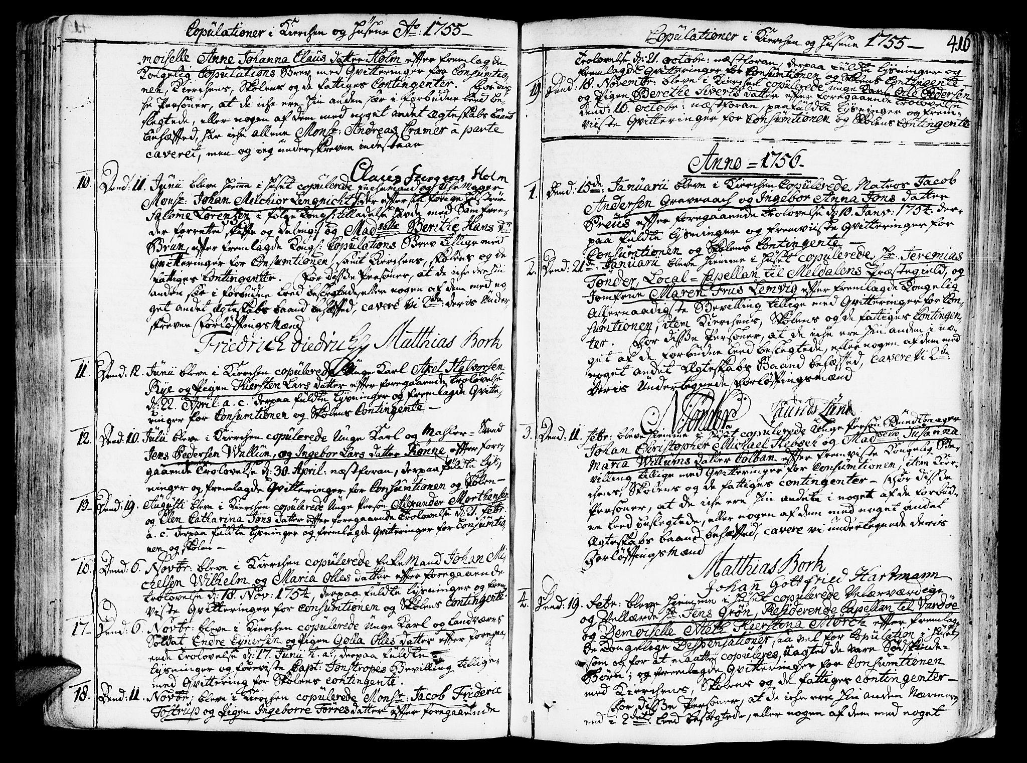 SAT, Ministerialprotokoller, klokkerbøker og fødselsregistre - Sør-Trøndelag, 602/L0103: Ministerialbok nr. 602A01, 1732-1774, s. 416