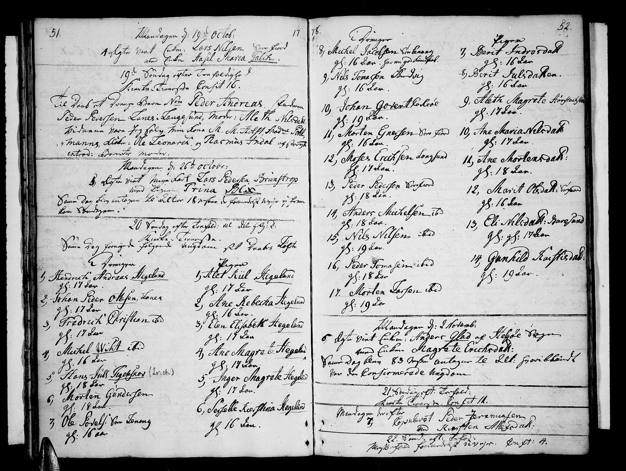 SATØ, Karlsøy sokneprestembete, Ministerialbok nr. 1, 1775-1823, s. 51-52