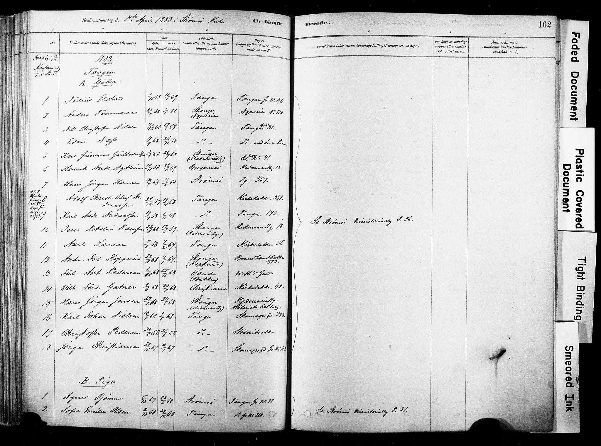 SAKO, Strømsø kirkebøker, F/Fb/L0006: Ministerialbok nr. II 6, 1879-1910, s. 162