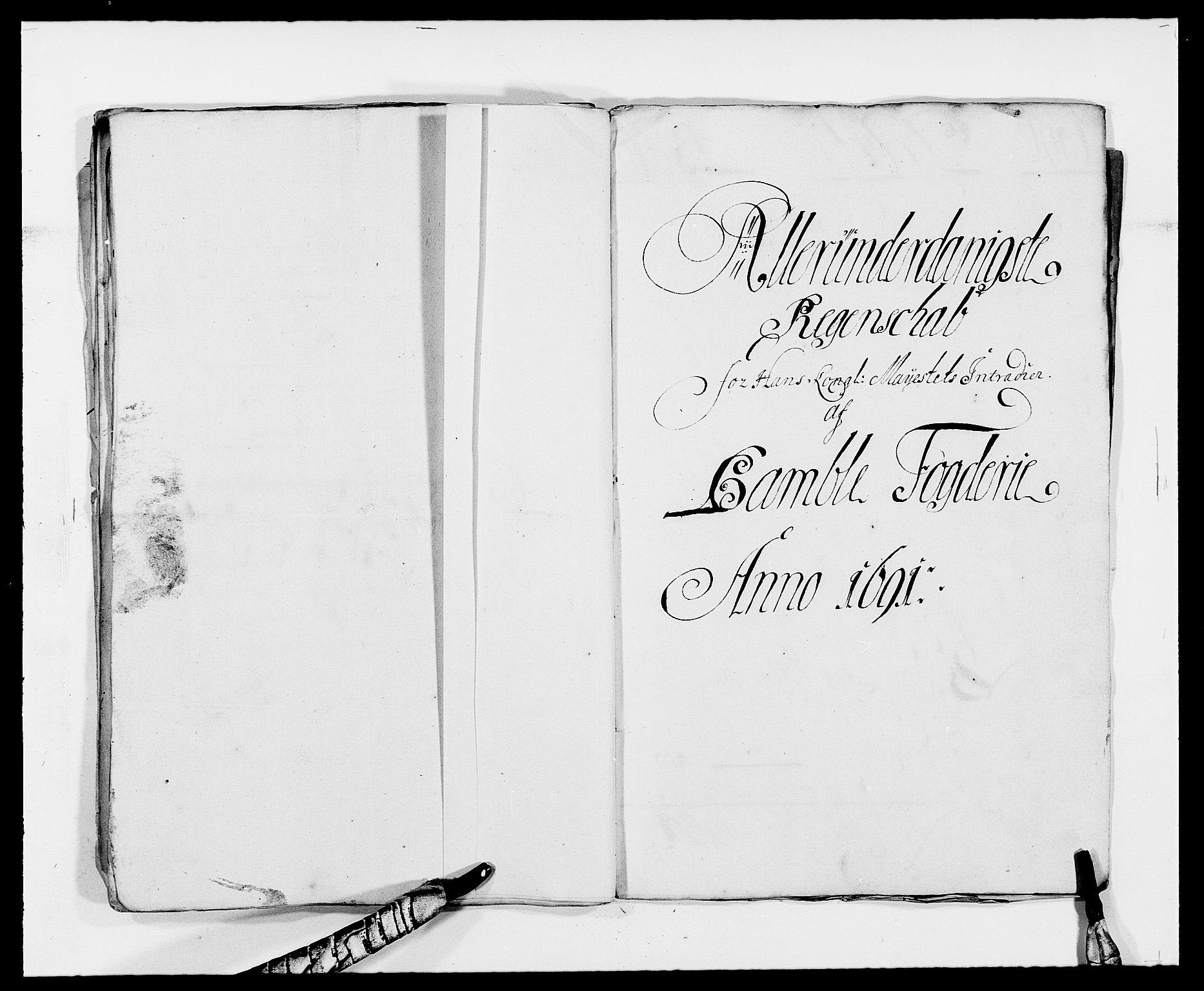 RA, Rentekammeret inntil 1814, Reviderte regnskaper, Fogderegnskap, R34/L2050: Fogderegnskap Bamble, 1688-1691, s. 31