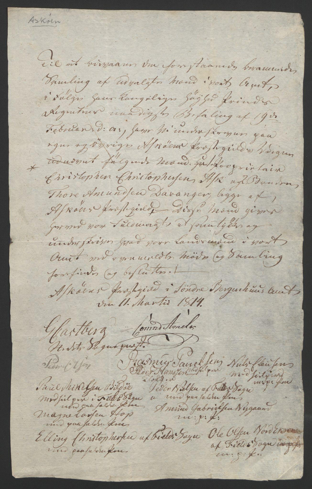 RA, Statsrådssekretariatet, D/Db/L0008: Fullmakter for Eidsvollsrepresentantene i 1814. , 1814, s. 268