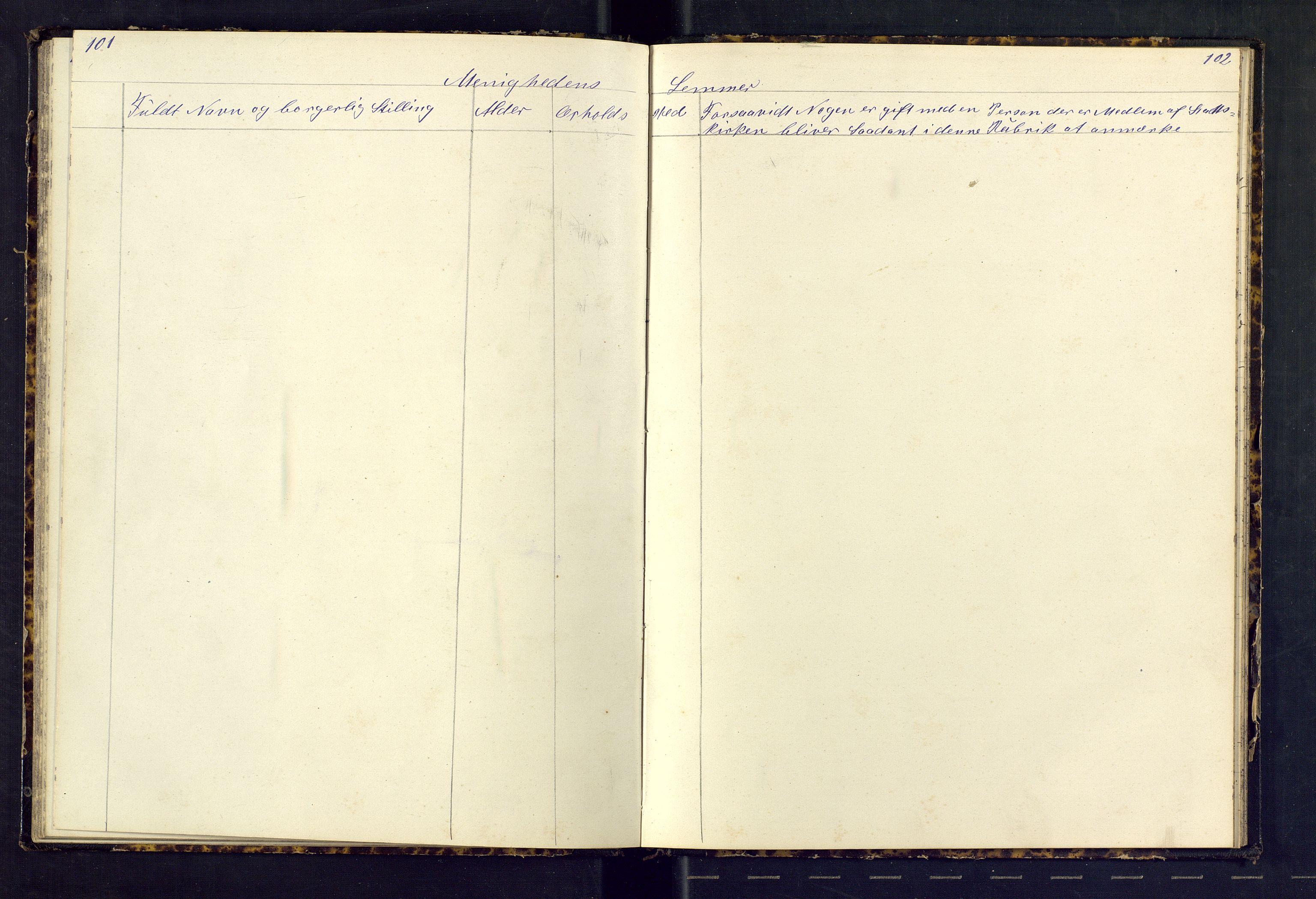 SAST, Den evangeliske lutherske frimenighet (SAS), Dissenterprotokoll nr. 1, 1881-1912, s. 101-102