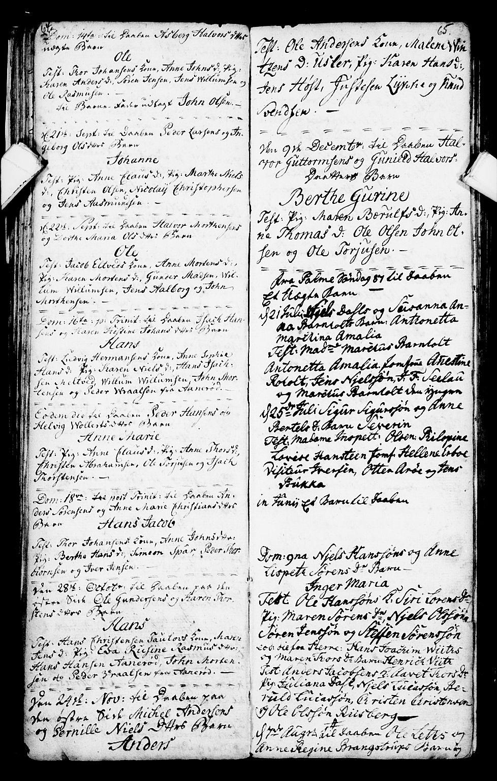 SAKO, Porsgrunn kirkebøker , G/Ga/L0001: Klokkerbok nr. I 1, 1766-1790, s. 64-65