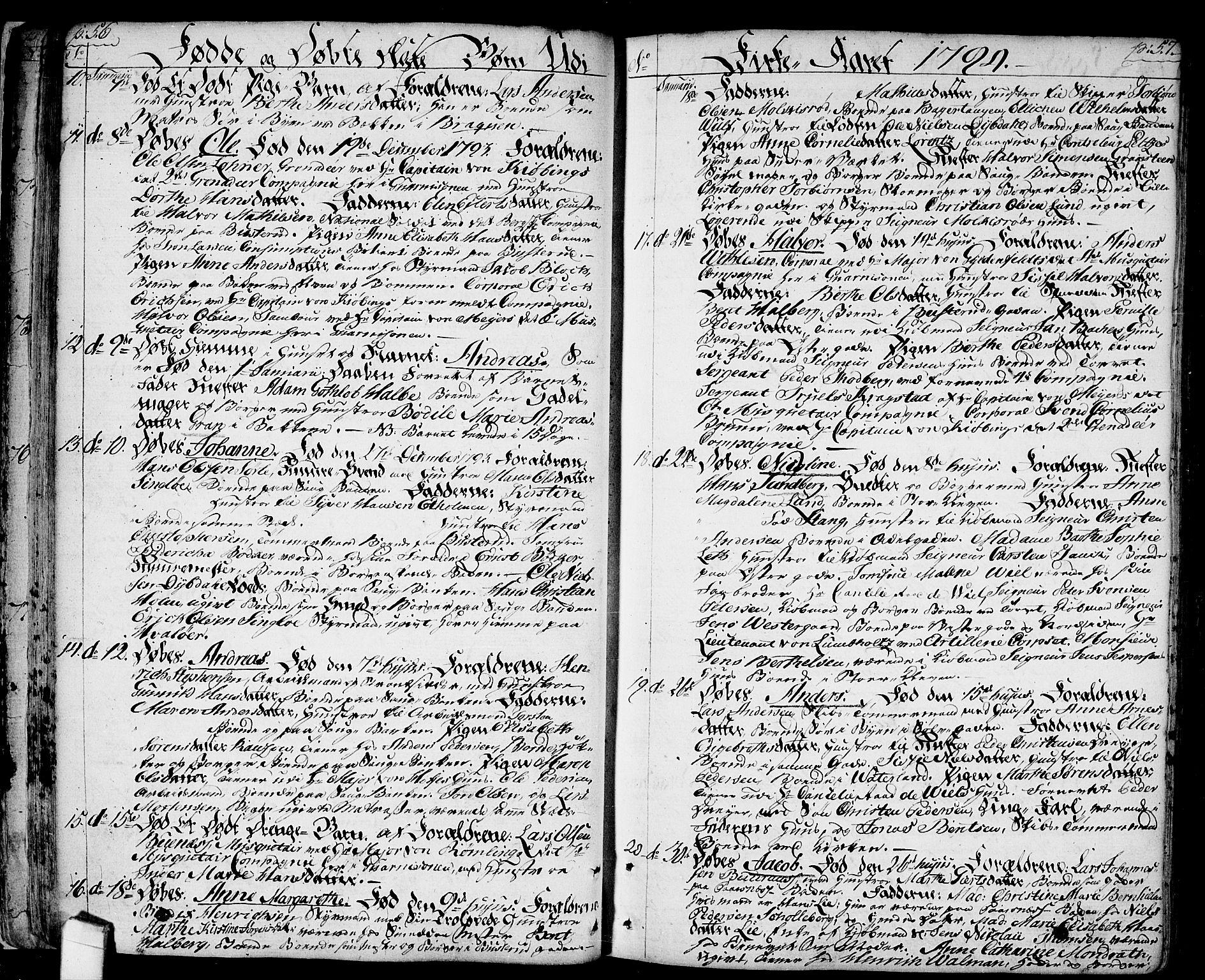 SAO, Halden prestekontor Kirkebøker, F/Fa/L0002: Ministerialbok nr. I 2, 1792-1812, s. 56-57