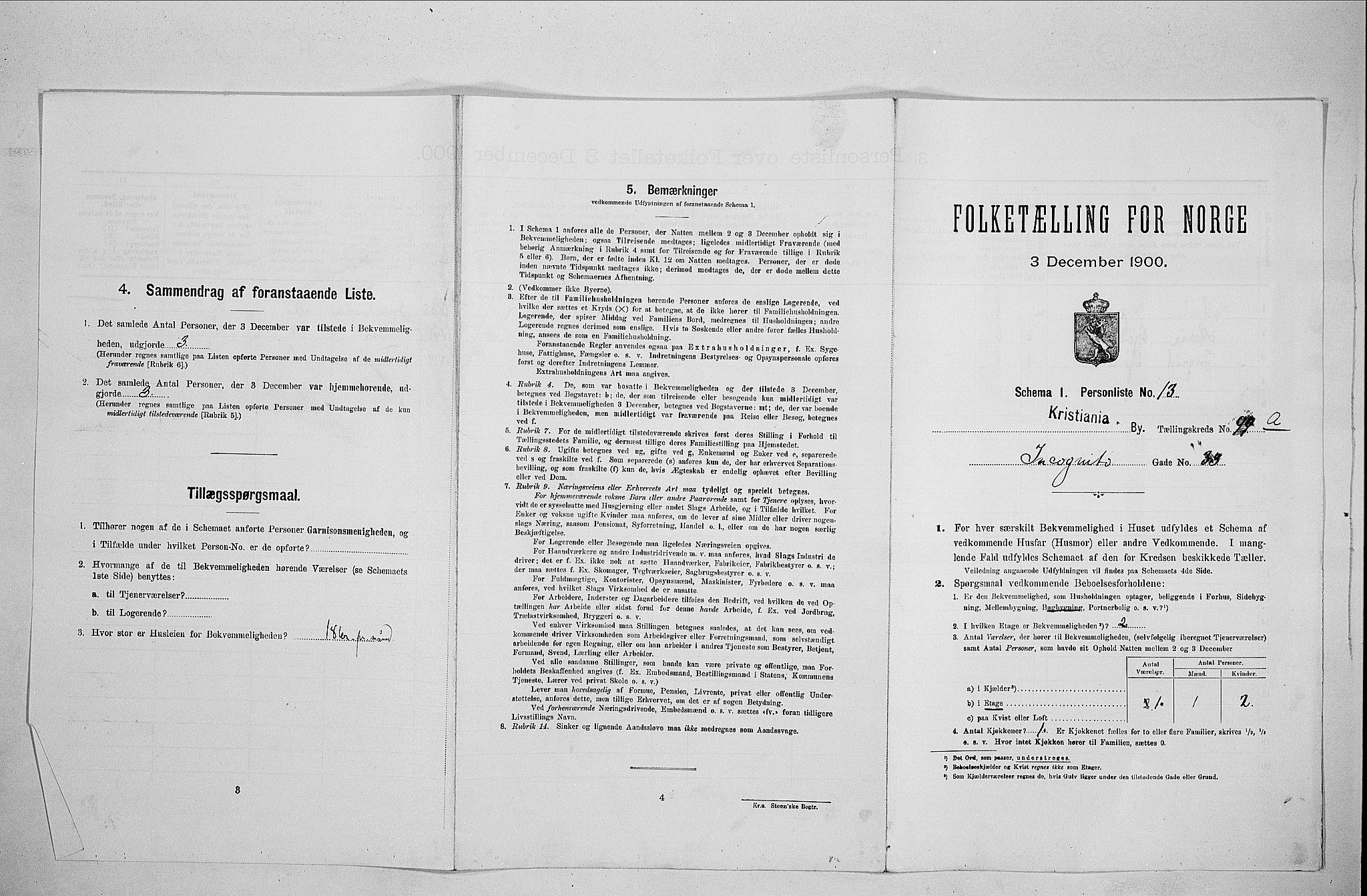 SAO, Folketelling 1900 for 0301 Kristiania kjøpstad, 1900, s. 41816