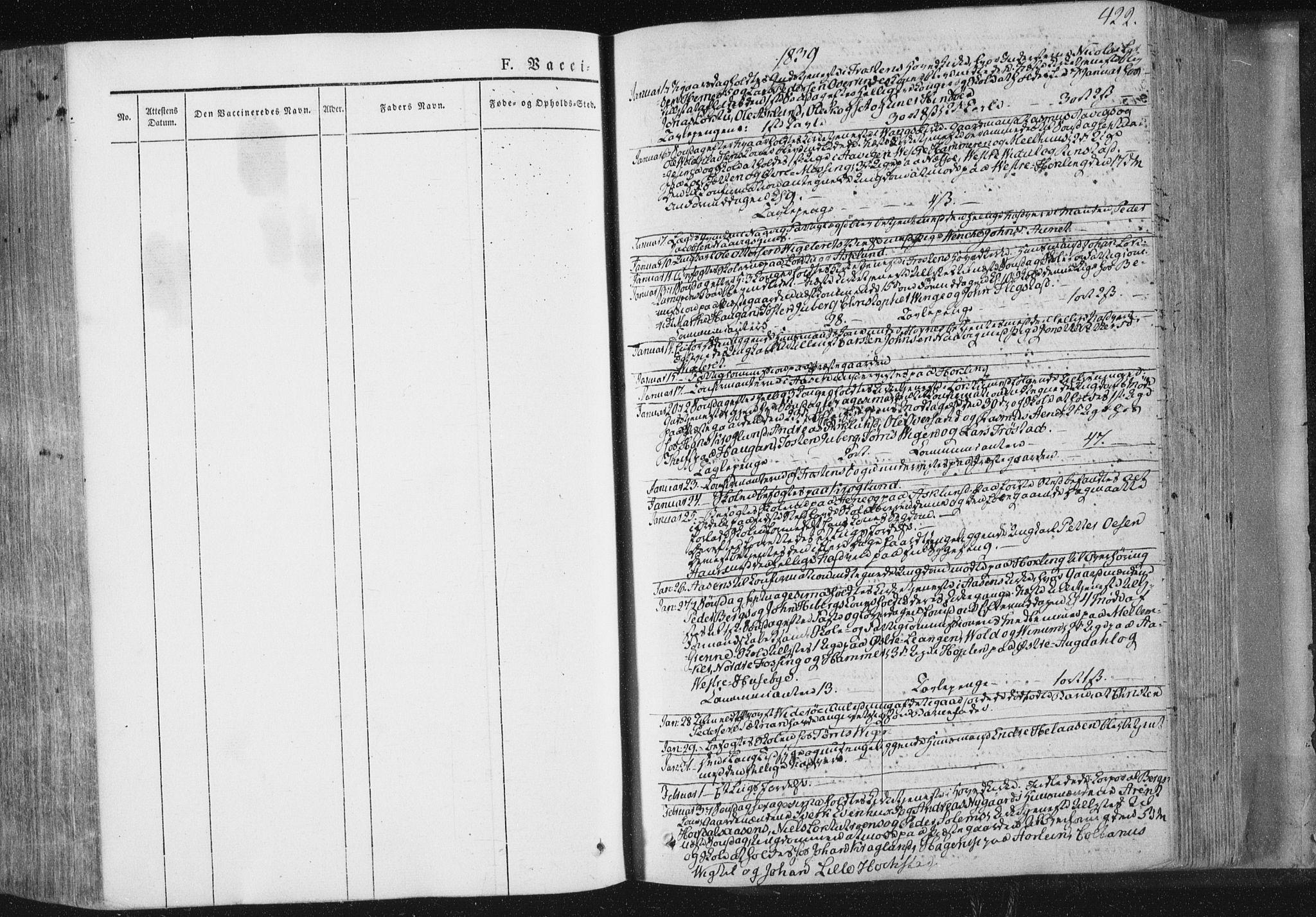 SAT, Ministerialprotokoller, klokkerbøker og fødselsregistre - Nord-Trøndelag, 713/L0115: Ministerialbok nr. 713A06, 1838-1851, s. 422